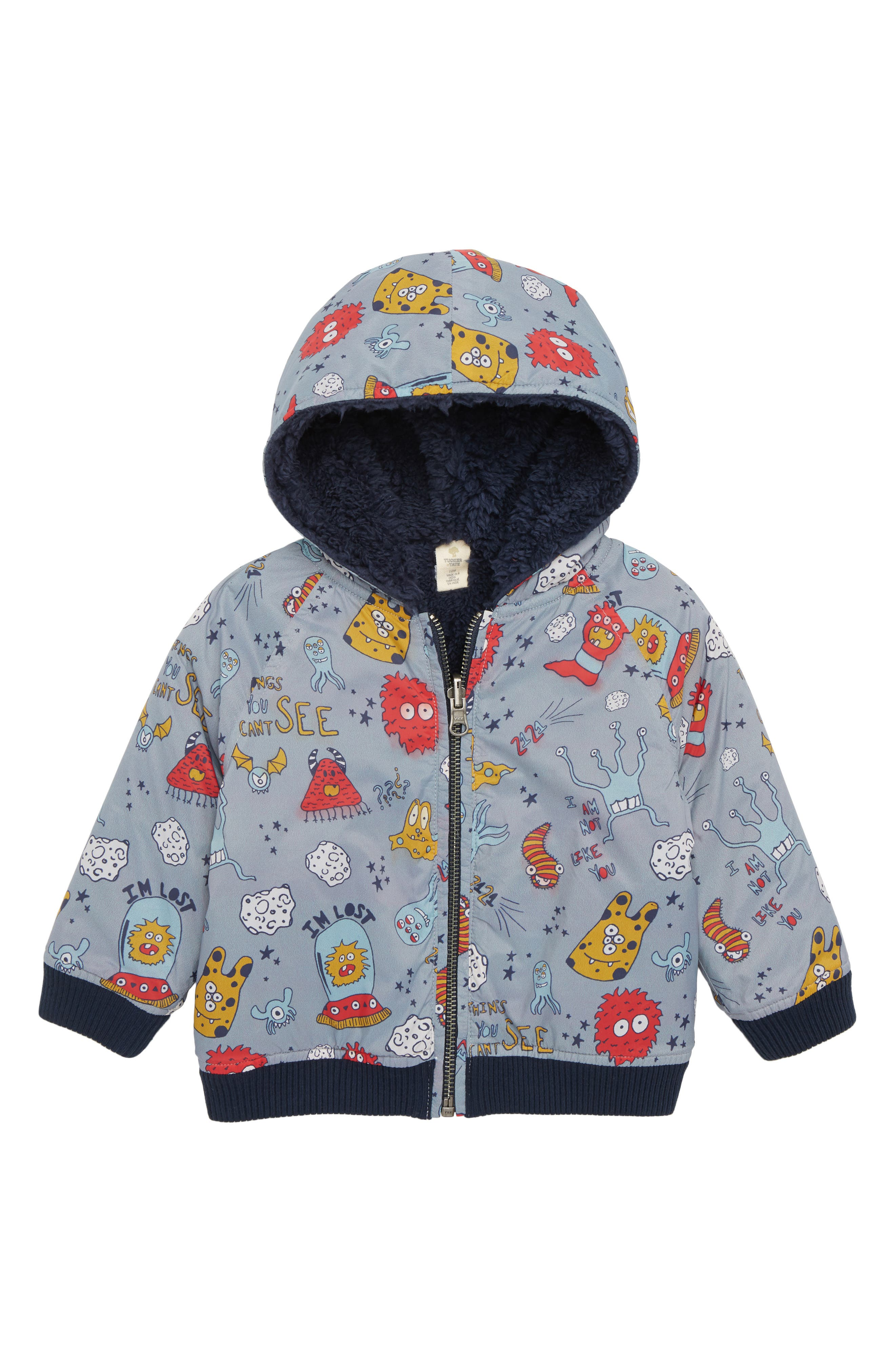 TUCKER + TATE Reversible Hooded Jacket, Main, color, 050