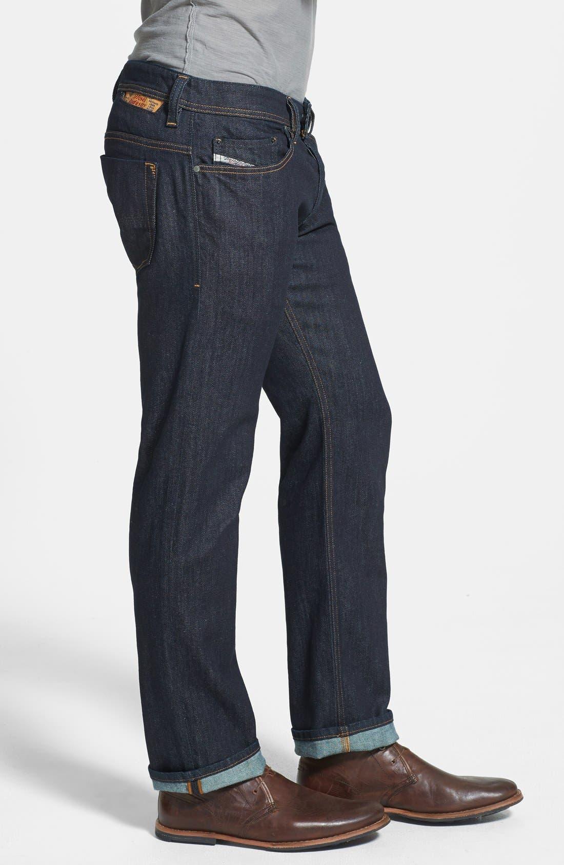 'Safado' Slim Fit Selvedge Jeans,                             Alternate thumbnail 6, color,                             400