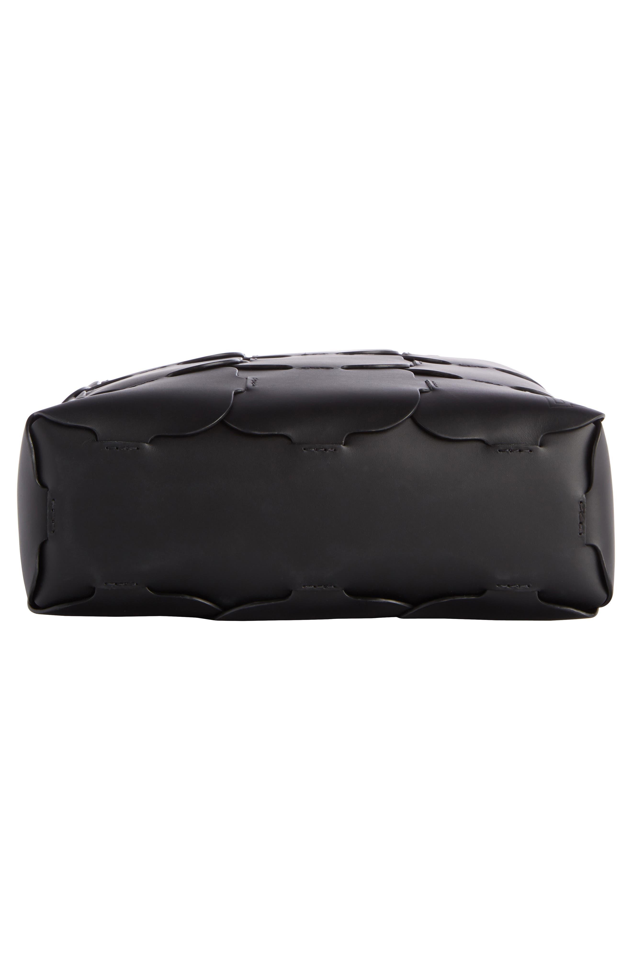 Medium Element Cabas Leather Bucket Bag,                             Alternate thumbnail 4, color,                             BLACK