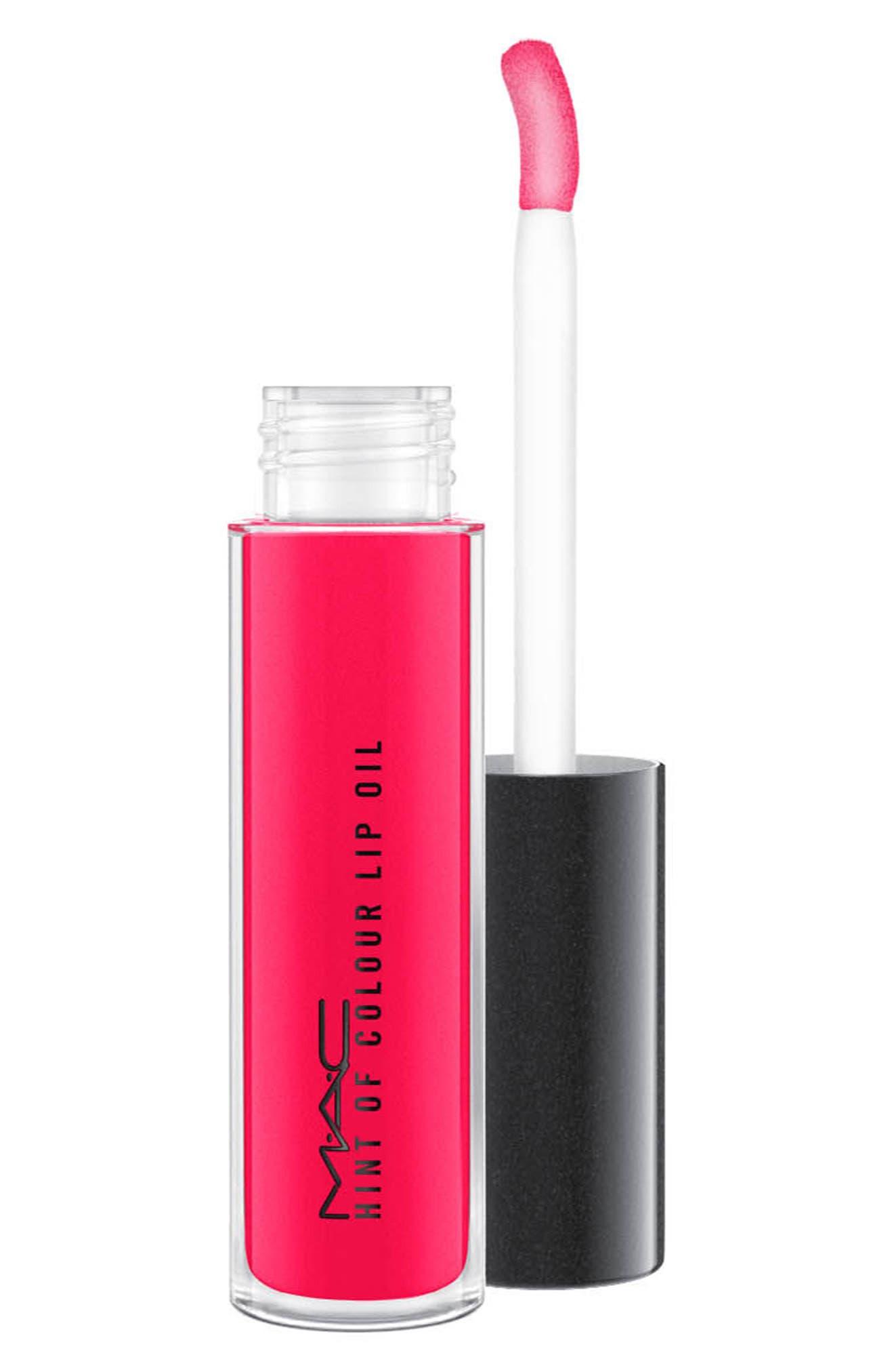 MAC Hint of Color Lip Oil,                             Main thumbnail 1, color,                             LA LA LOVE YOU