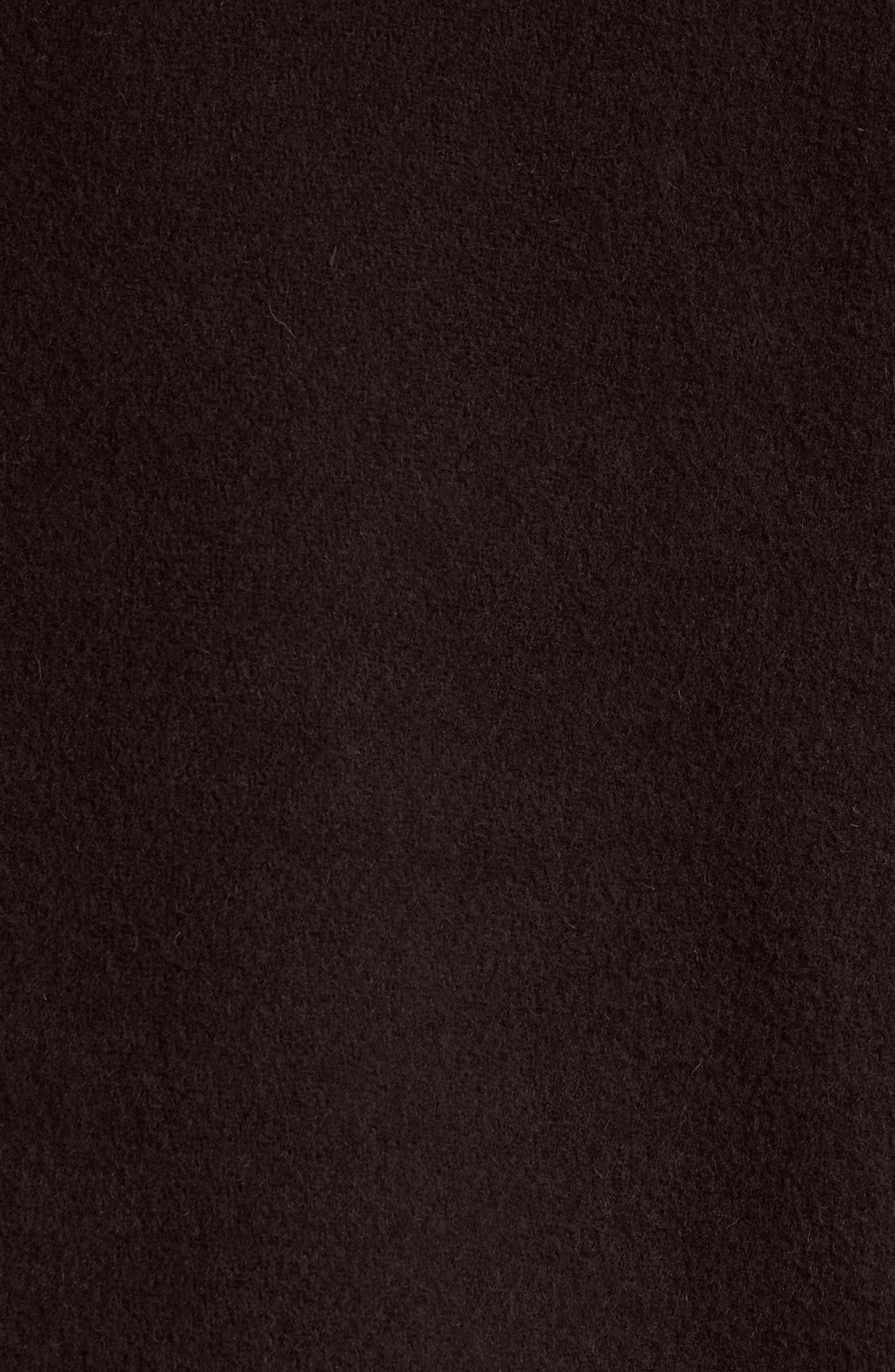 Mersey Wool Blend Duffle Coat,                             Alternate thumbnail 6, color,                             001