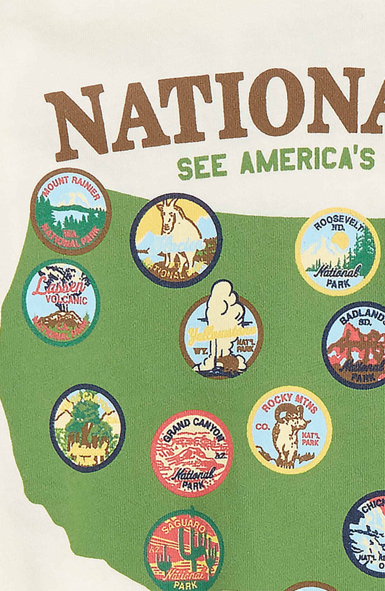 National Parks T-Shirt,                             Alternate thumbnail 3, color,                             900