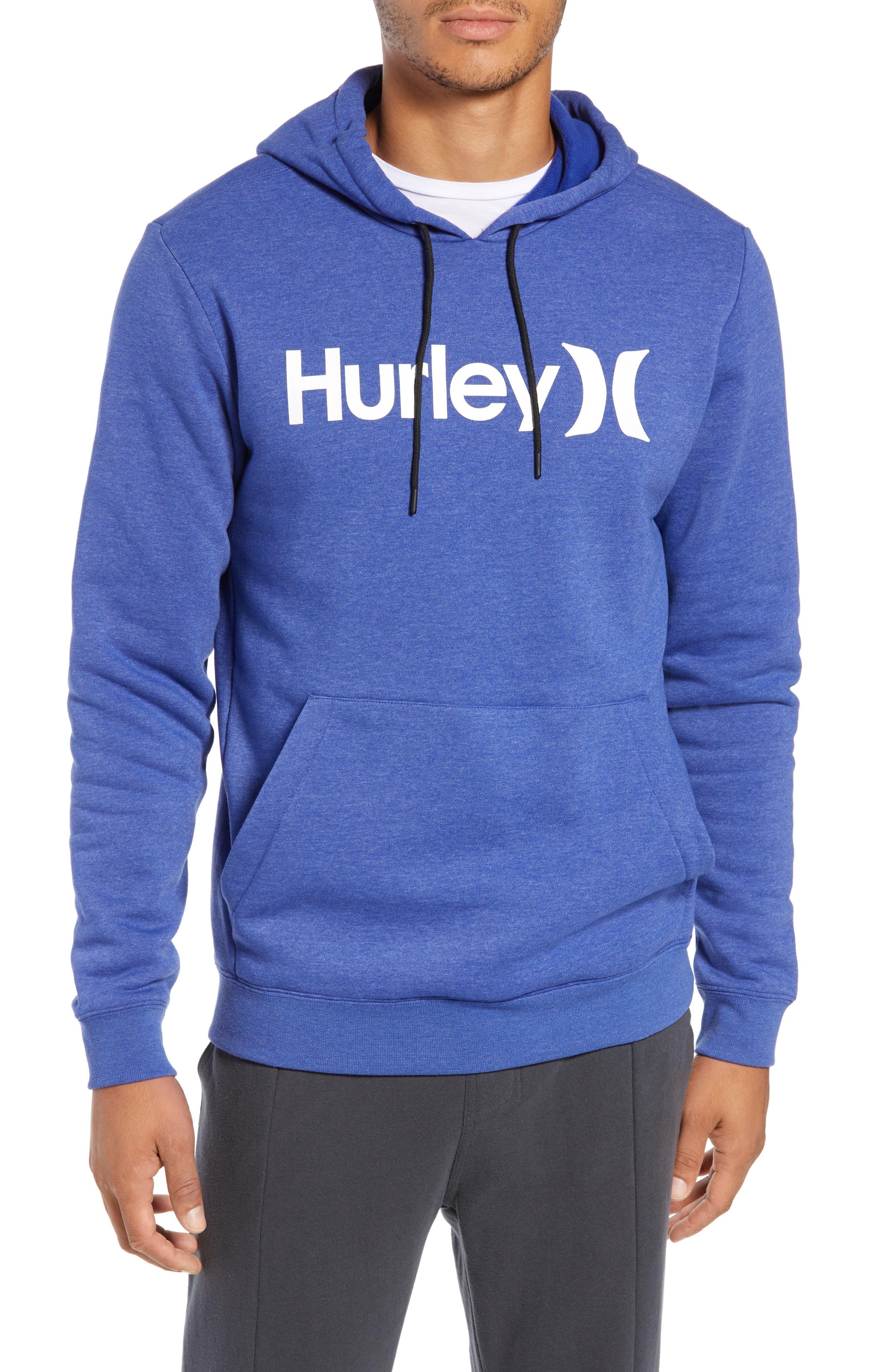 Surf Check Hoodie Sweatshirt, Main, color, DEEP ROYAL HEATHER/ WHITE