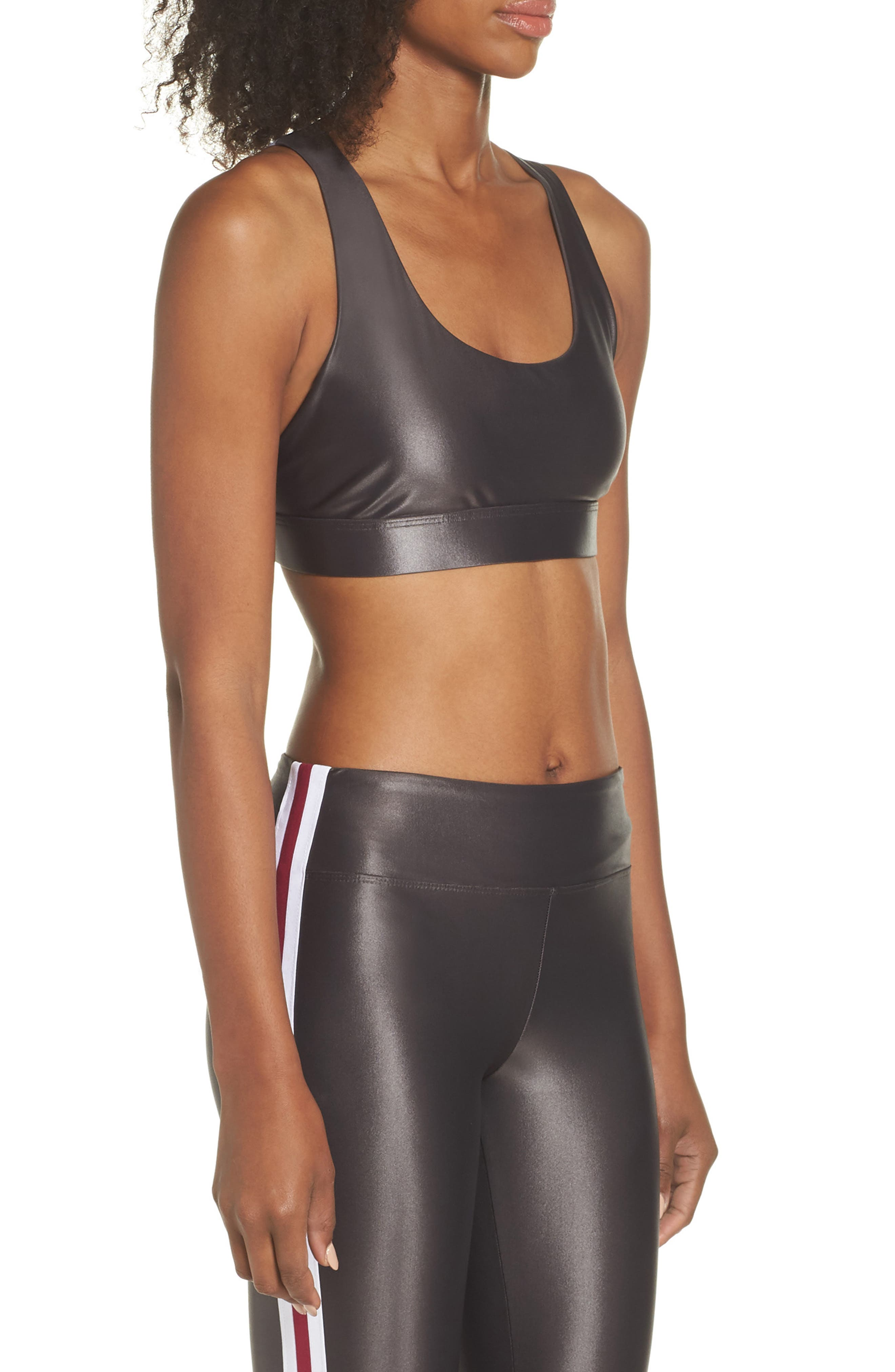 Fame Sports Bra,                             Alternate thumbnail 3, color,                             LEAD