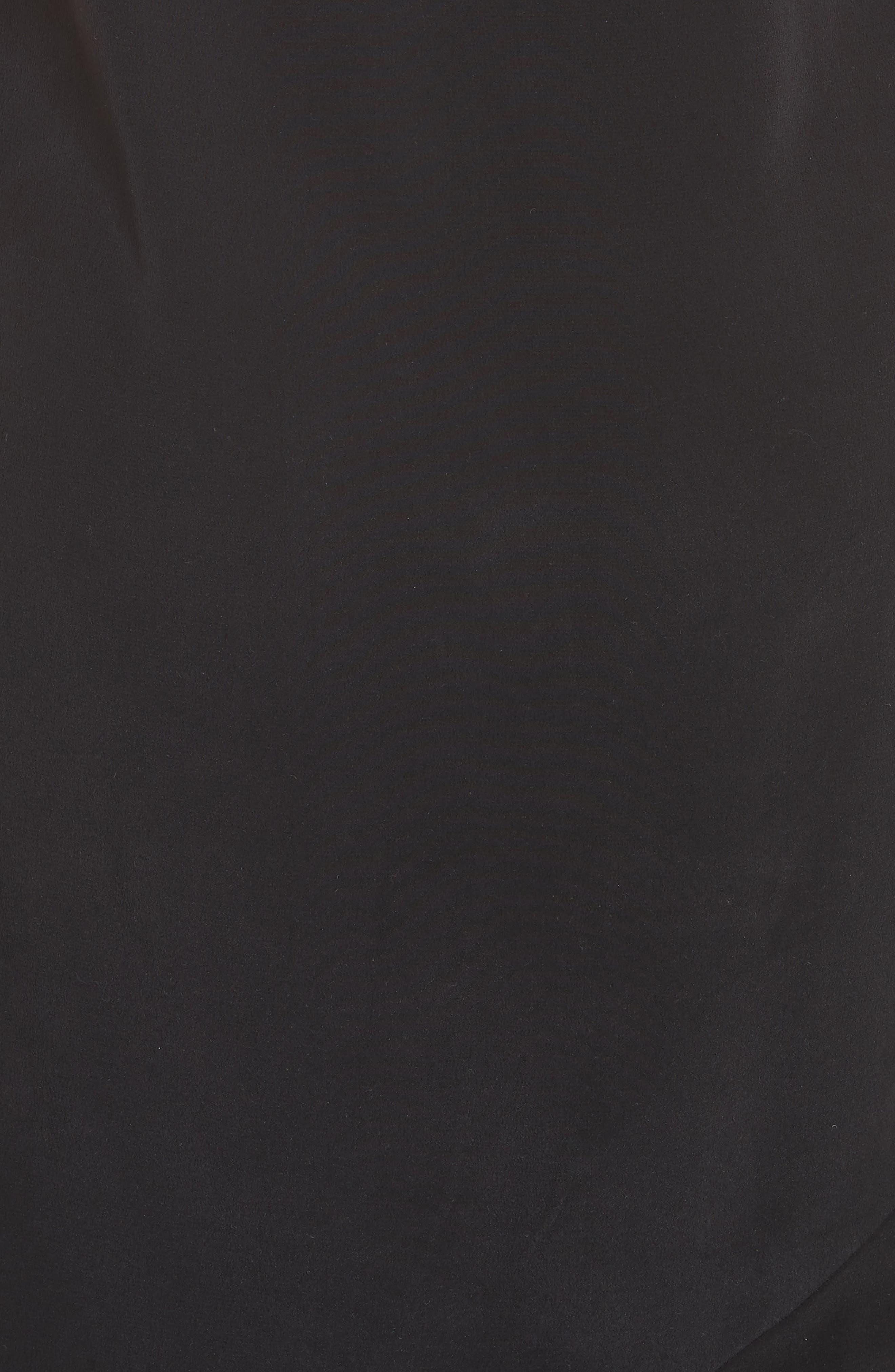 Jada Asymmetrical Silk Slip Dress,                             Alternate thumbnail 6, color,                             003