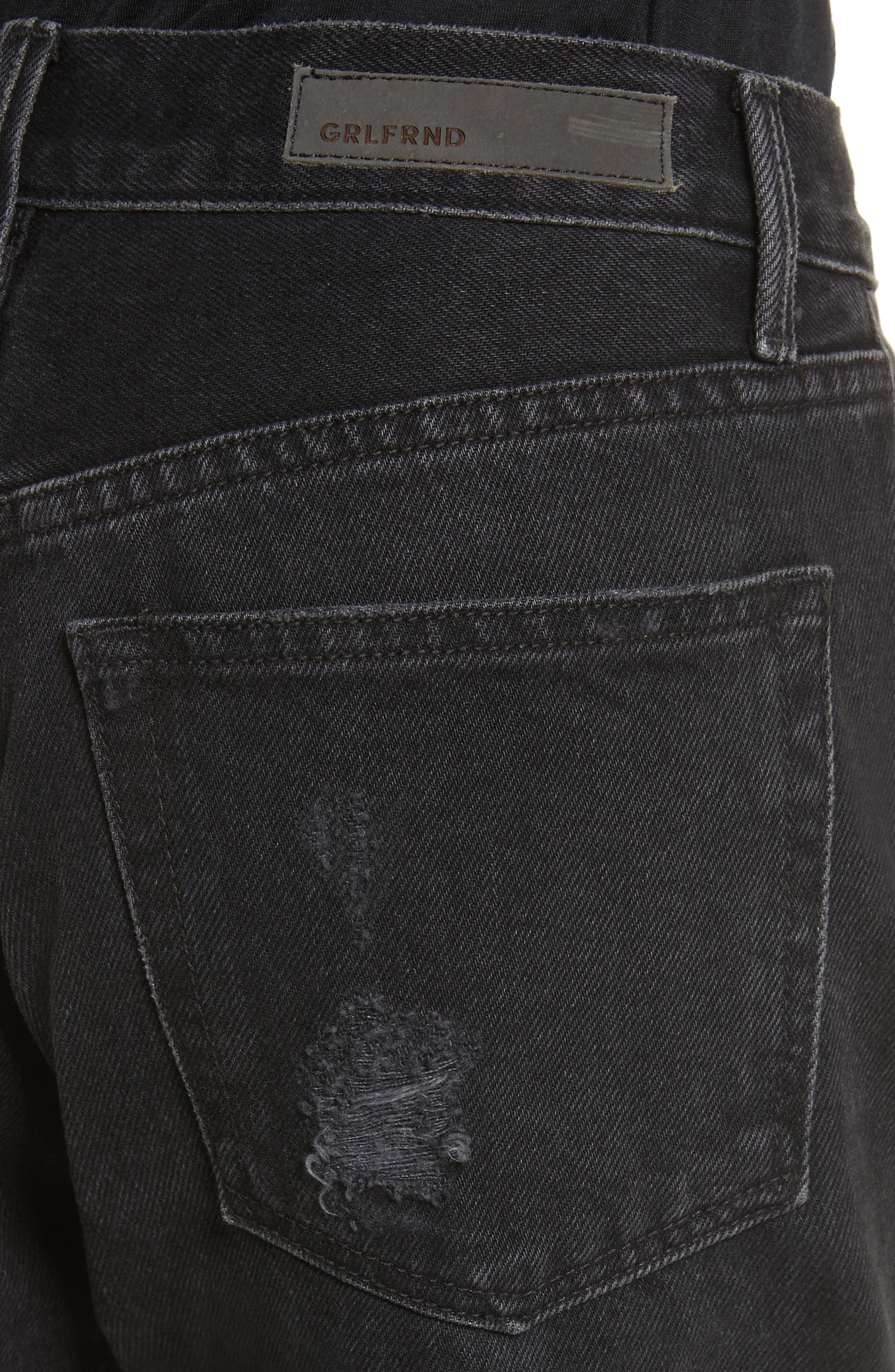 Karolina Ripped Rigid High Waist Skinny Jeans,                             Alternate thumbnail 4, color,                             TRAVELIN BAND