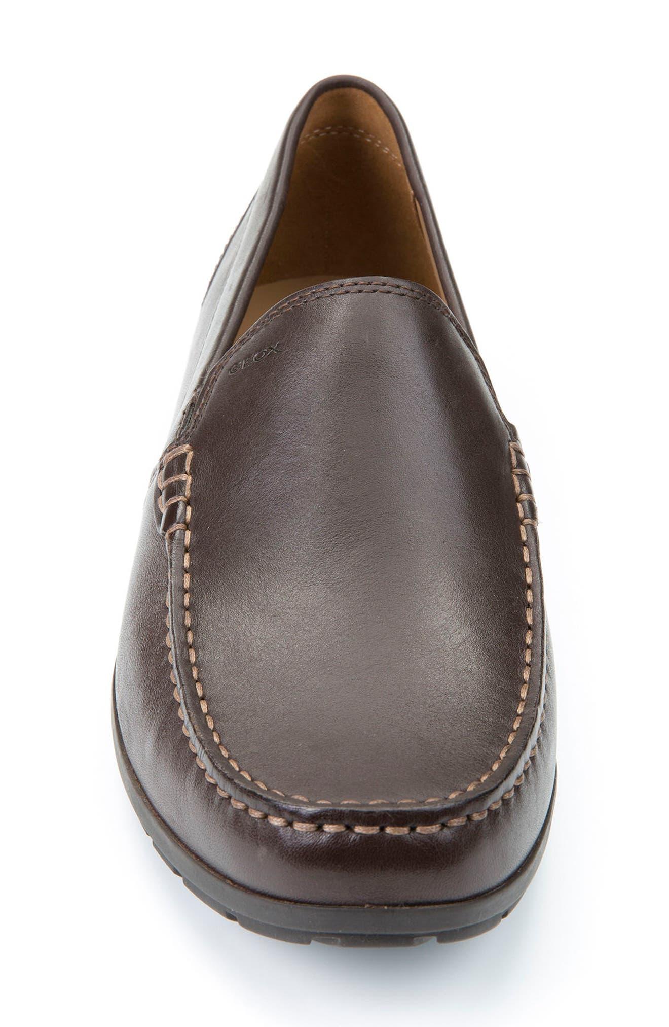 'Simon W2' Venetian Loafer,                             Alternate thumbnail 4, color,                             BROWN LEATHER
