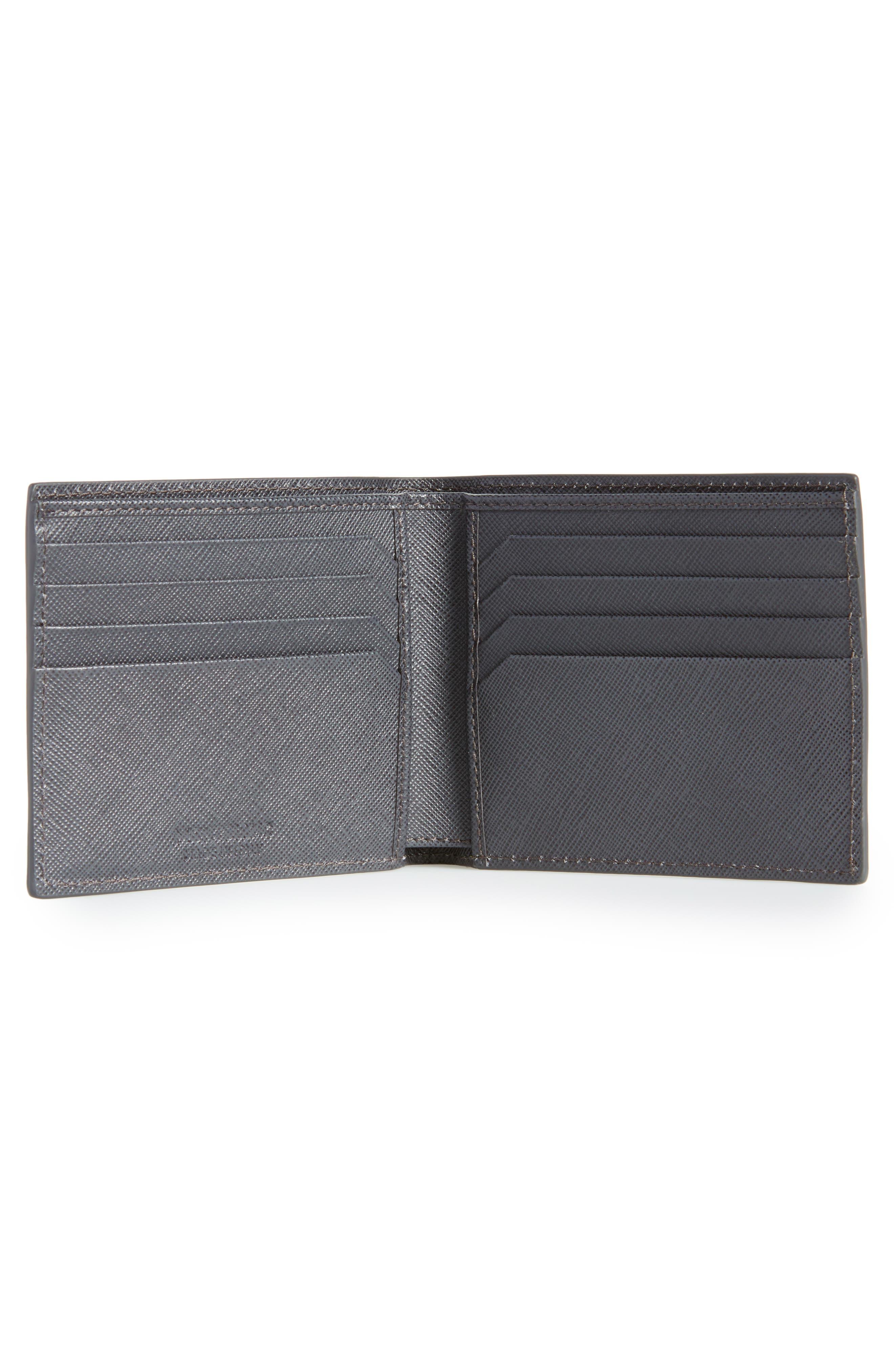 Sartorial Leather Bifold Wallet,                             Alternate thumbnail 2, color,                             DARK GREY