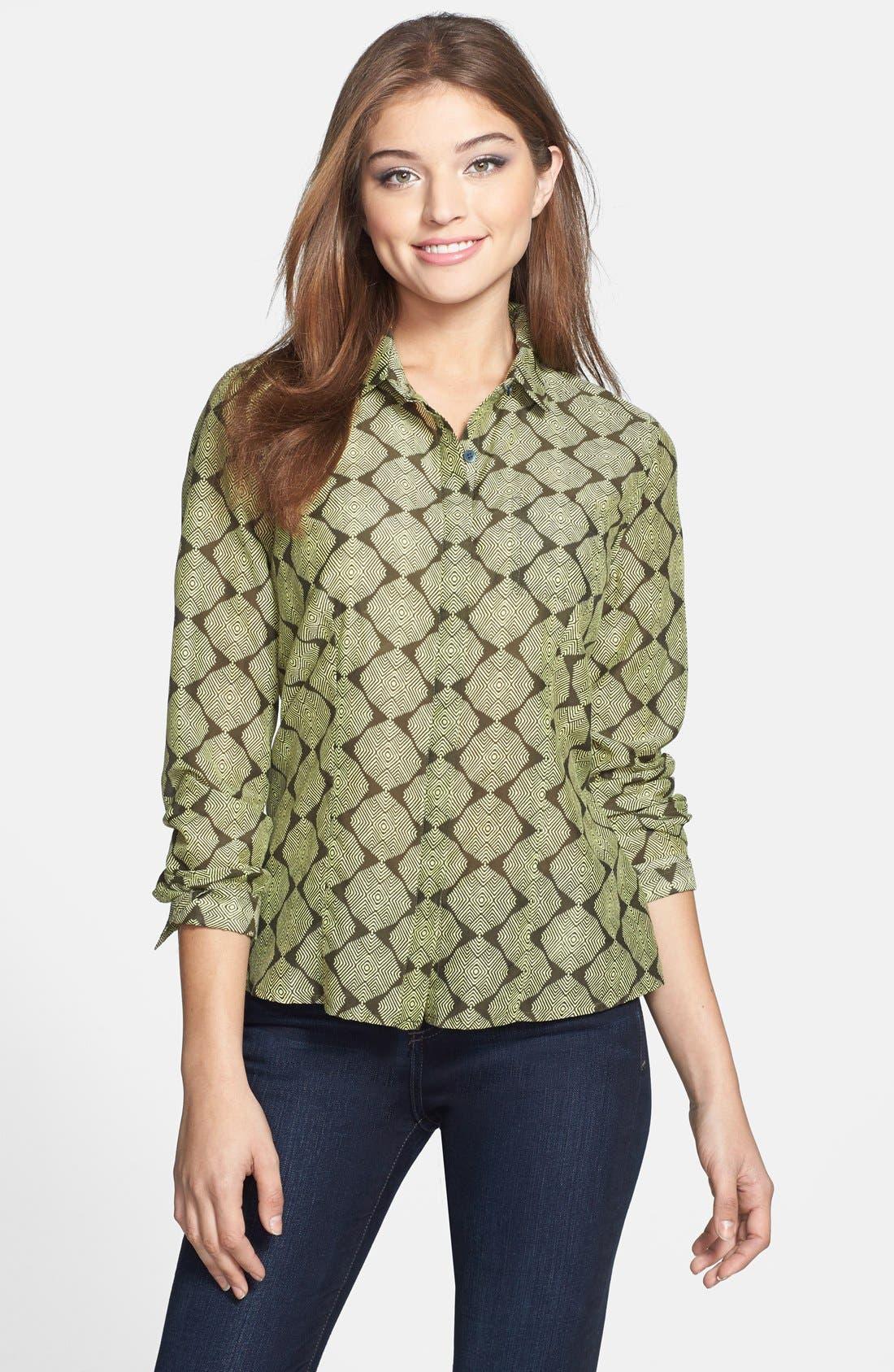 Cotton & Silk Shirt,                             Main thumbnail 20, color,
