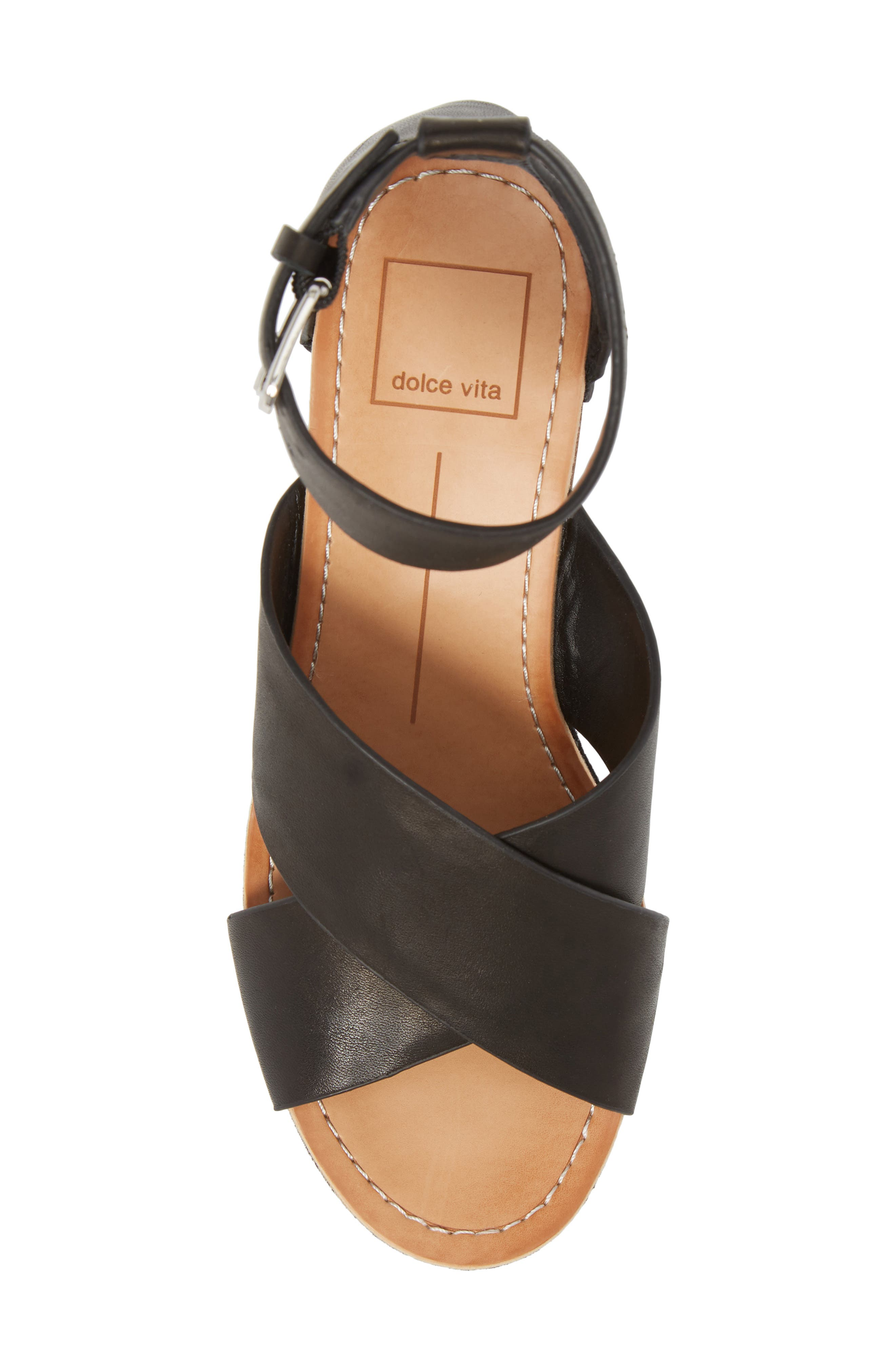 DOLCE VITA,                             Dalrae Platform Wedge Sandal,                             Alternate thumbnail 5, color,                             001
