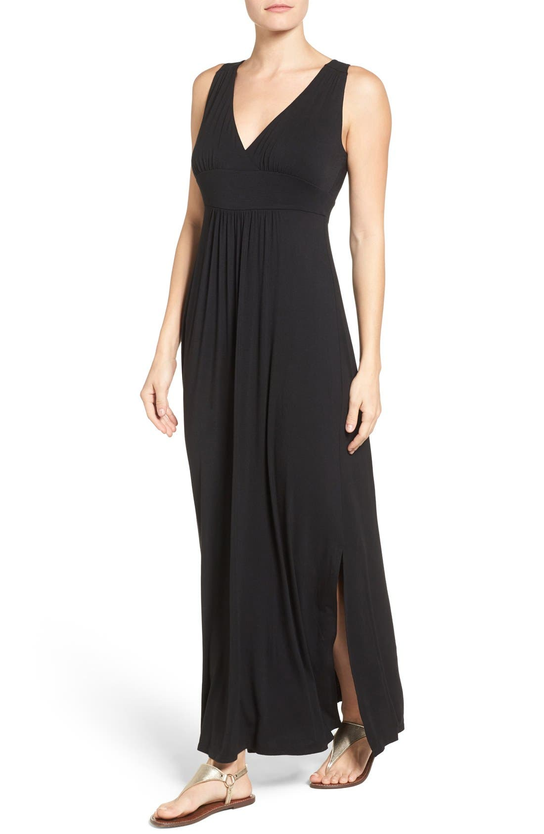 Knit Maxi Dress,                         Main,                         color, 001