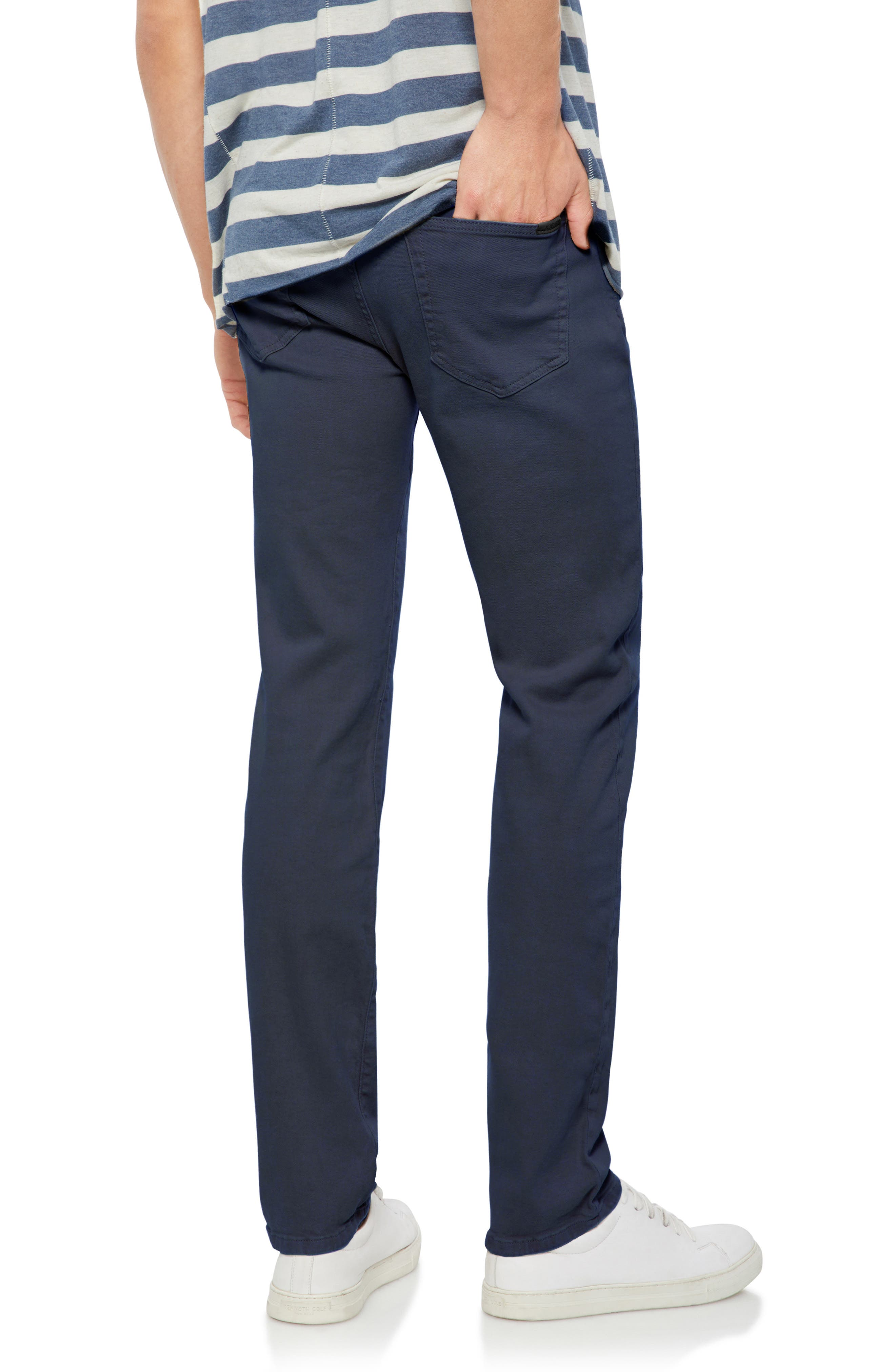 Brixton Slim Straight Fit Pants,                             Alternate thumbnail 2, color,                             NAVY