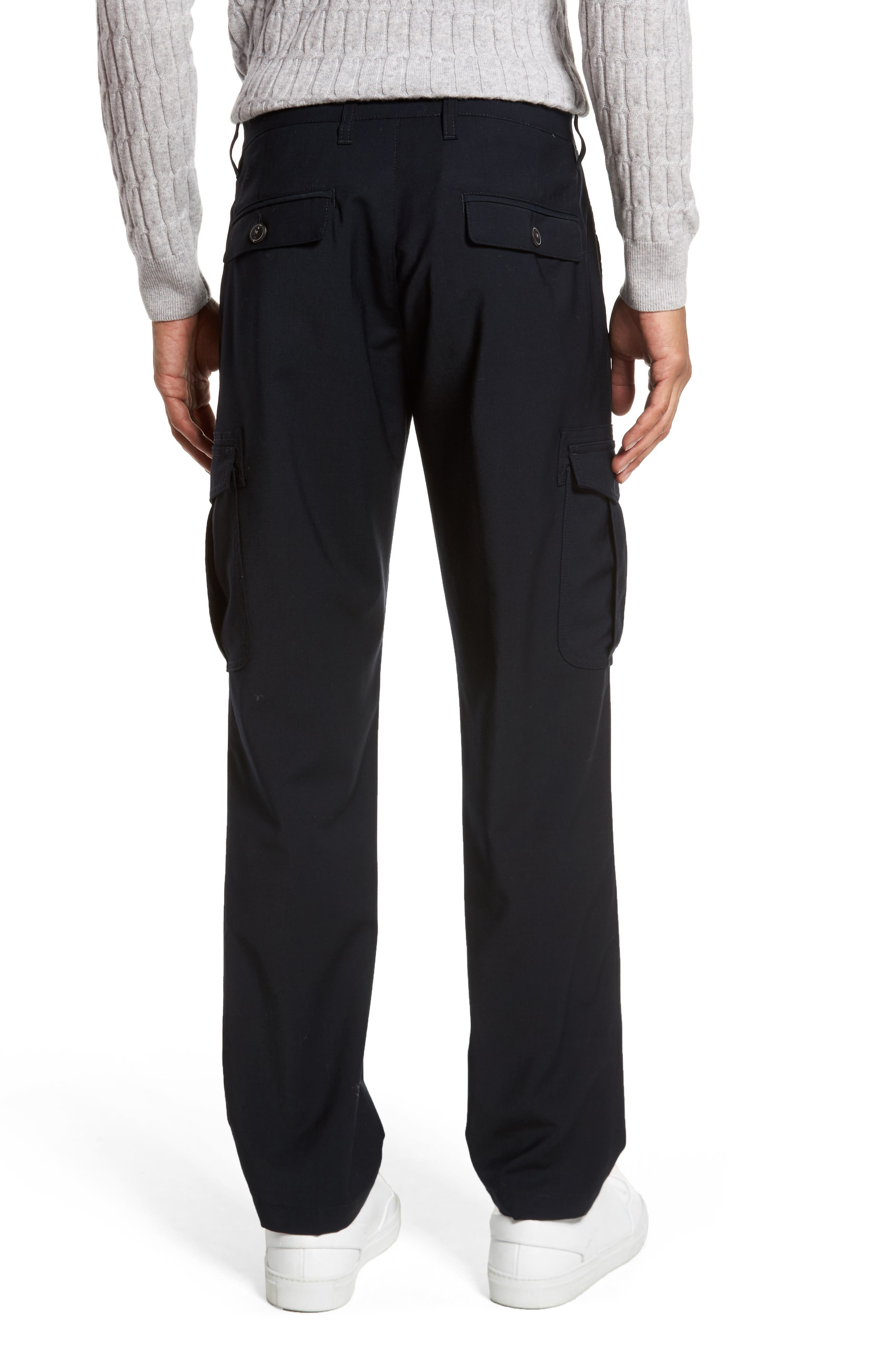 Stretch Wool Cargo Trousers,                             Alternate thumbnail 2, color,                             400