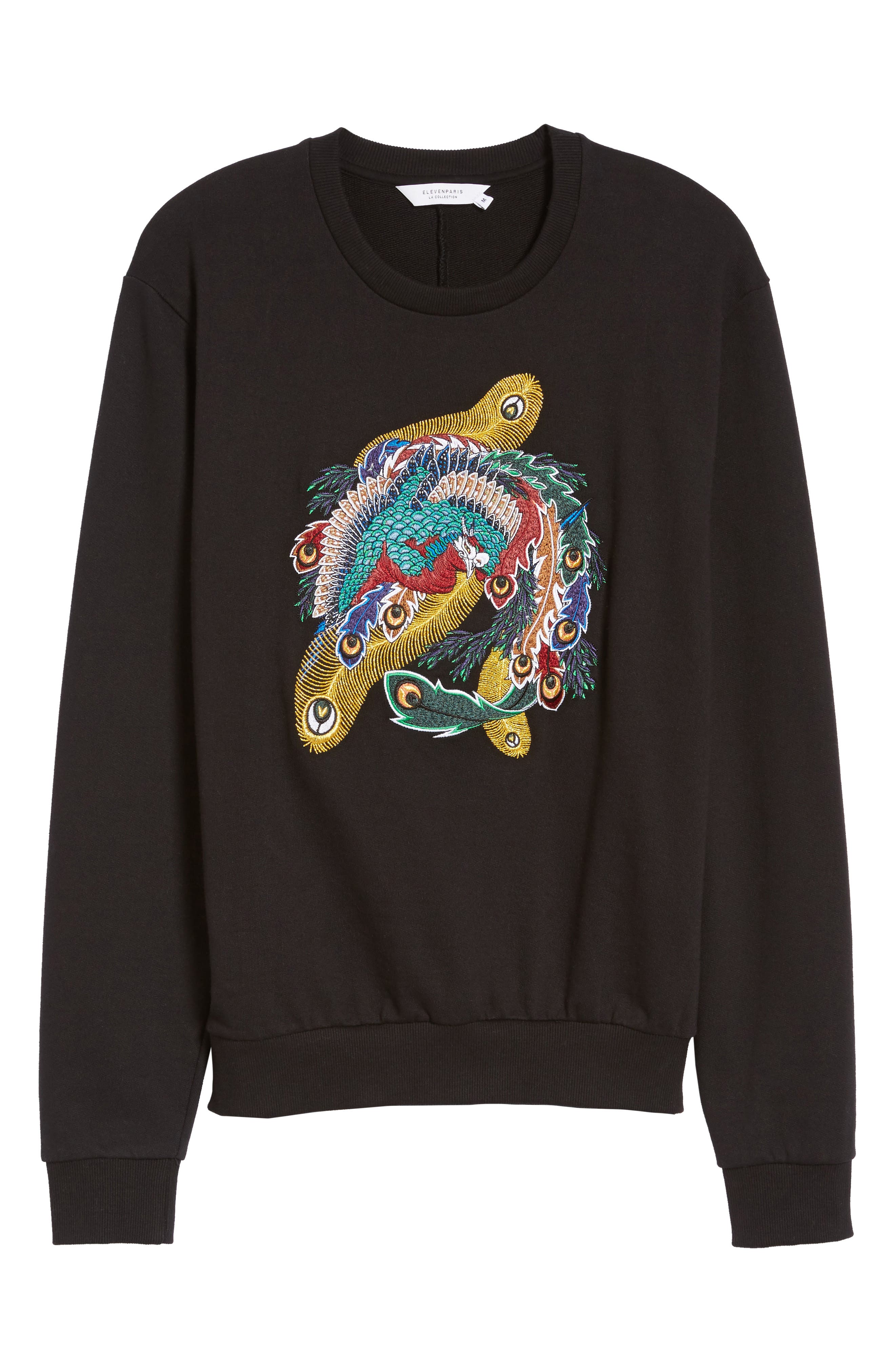 Nolan Embroidered Sweatshirt,                             Alternate thumbnail 6, color,                             001