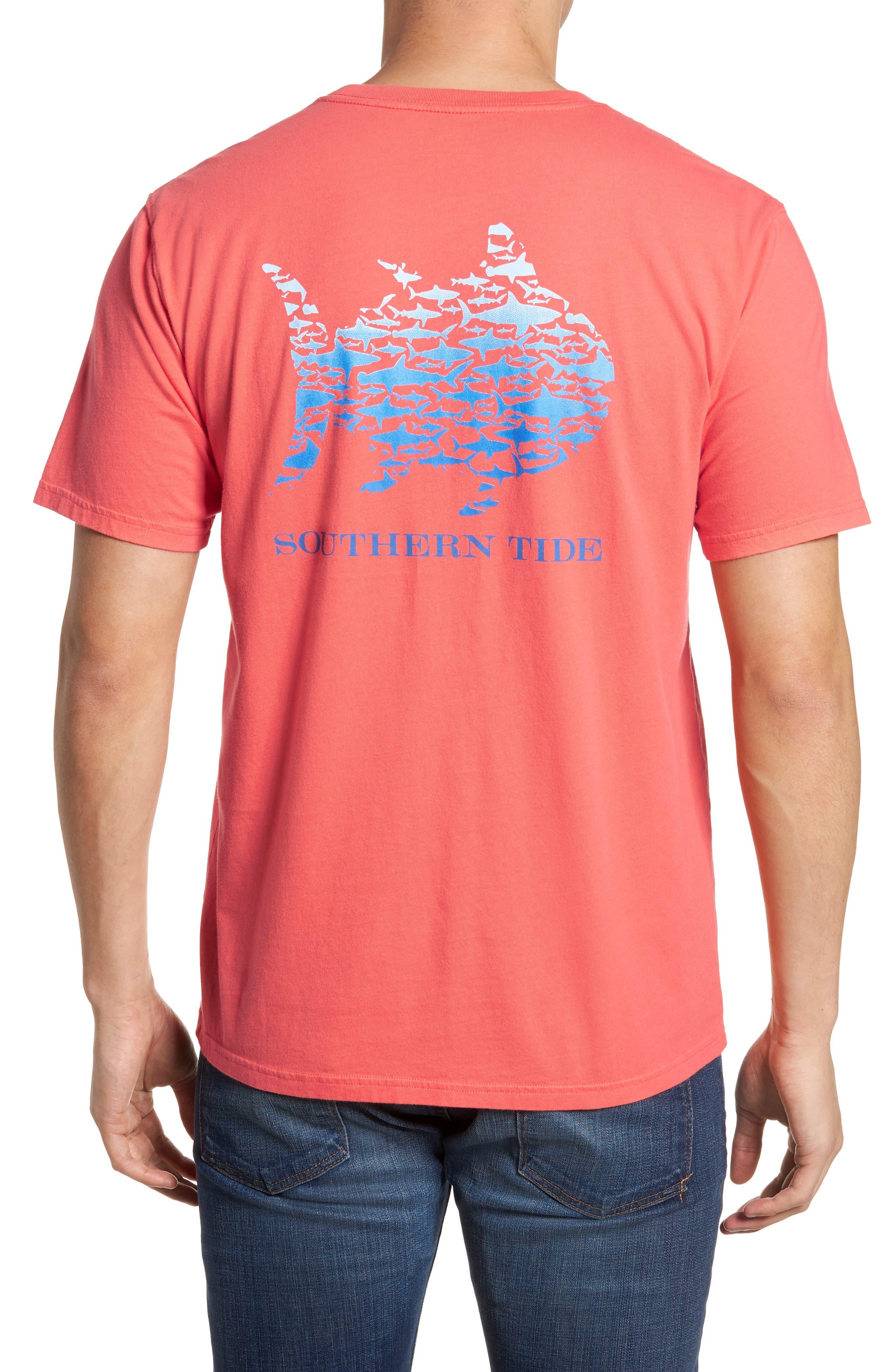 School Of Sharks Crewneck Cotton T-Shirt,                             Alternate thumbnail 2, color,                             682