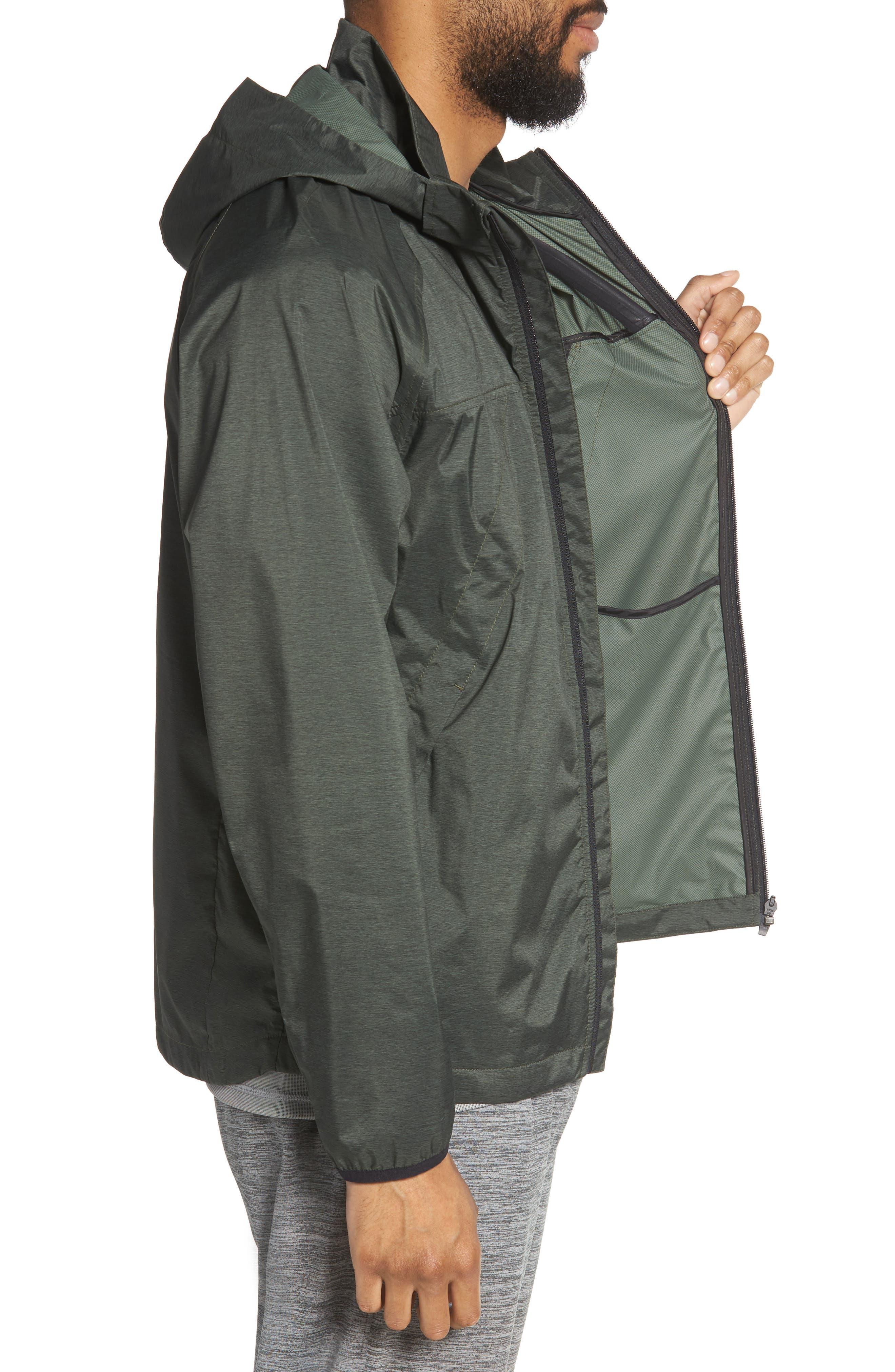 Xieite Hooded Jacket,                             Alternate thumbnail 3, color,                             GREEN TACTICAL MELANGE