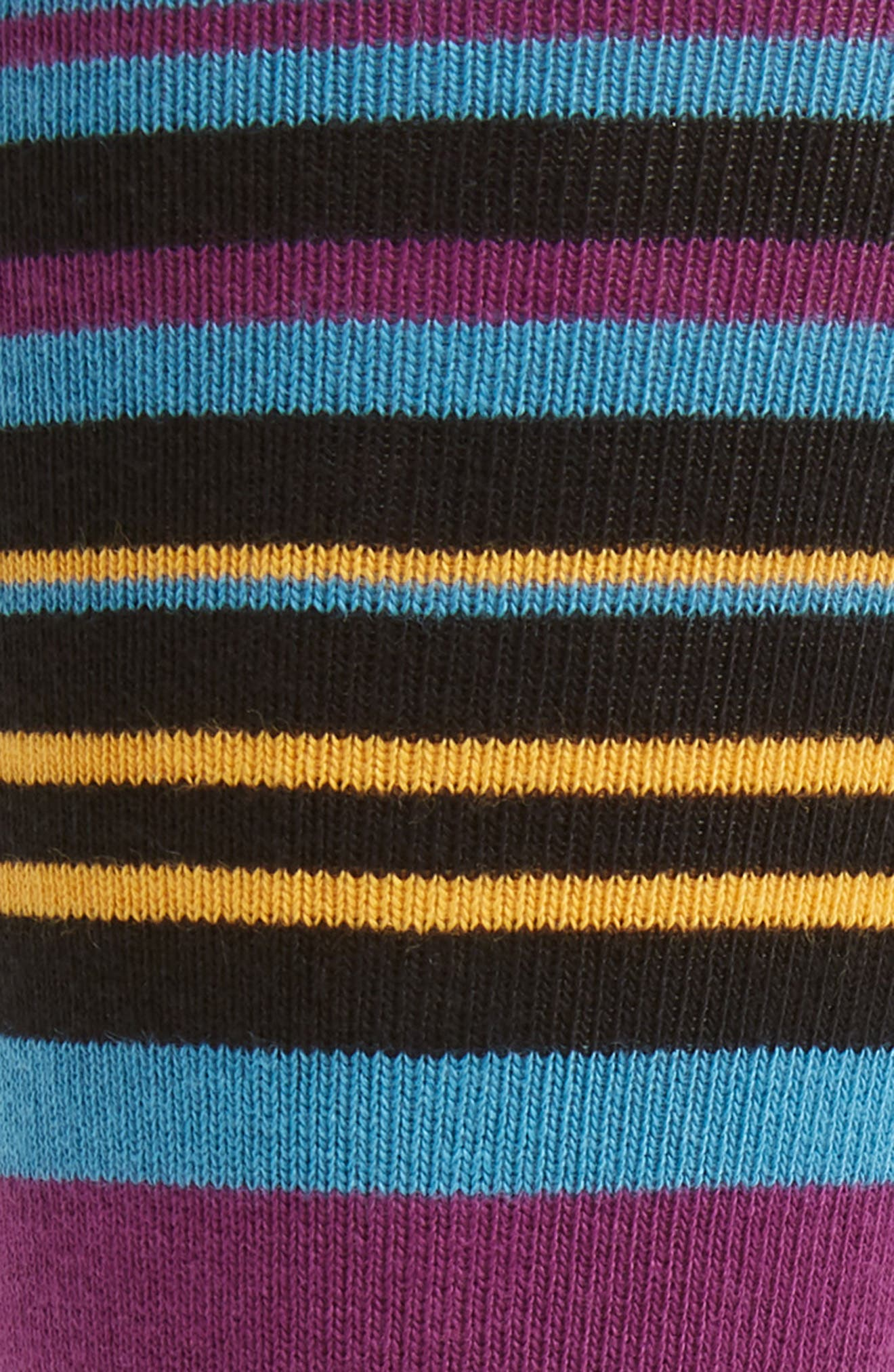 Sisma Stripe Socks,                             Alternate thumbnail 2, color,                             BLACK