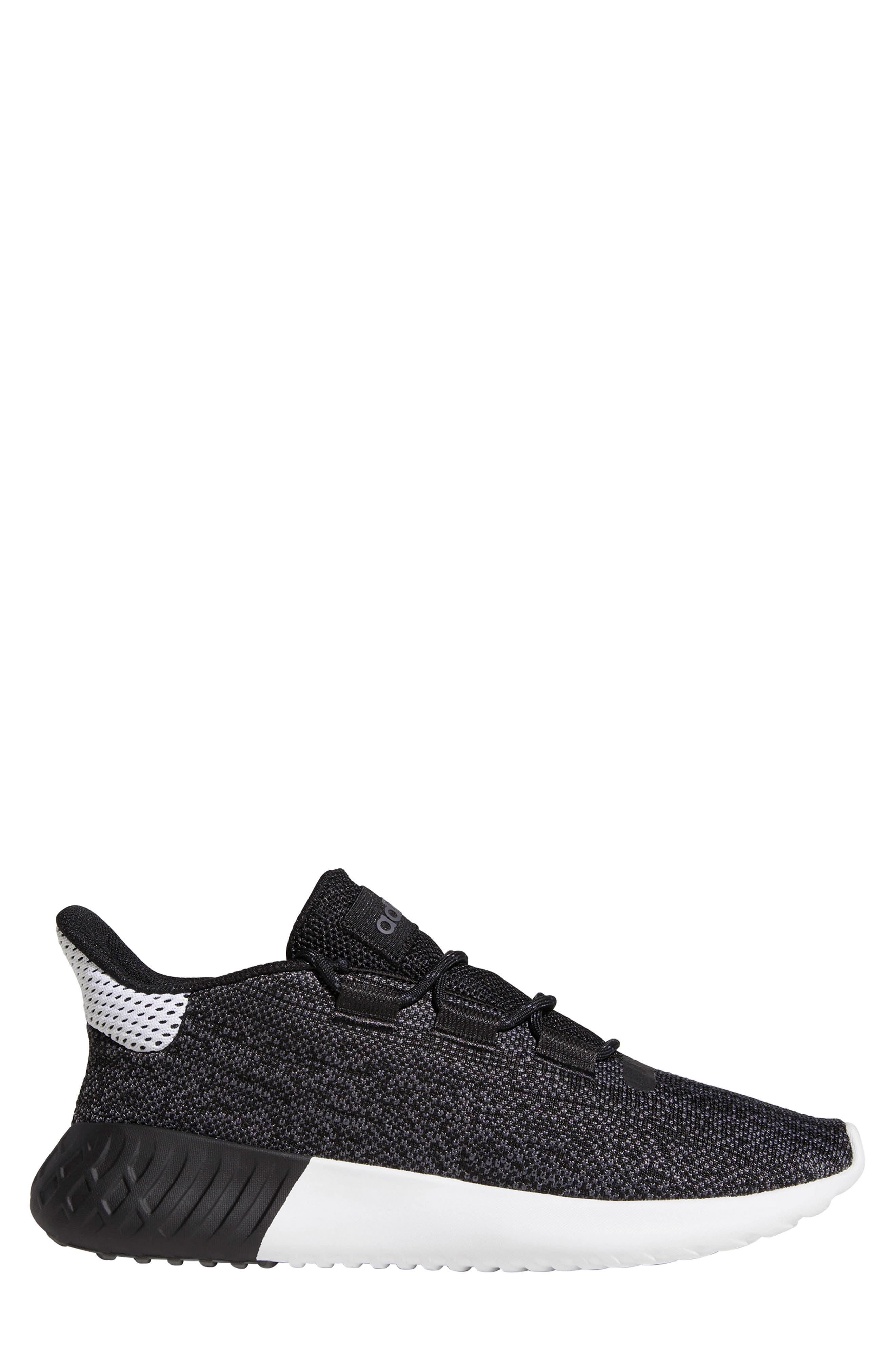 Tubular Dusk Primeknit Sneaker,                             Alternate thumbnail 3, color,                             WHITE/ BLACK/ GREY