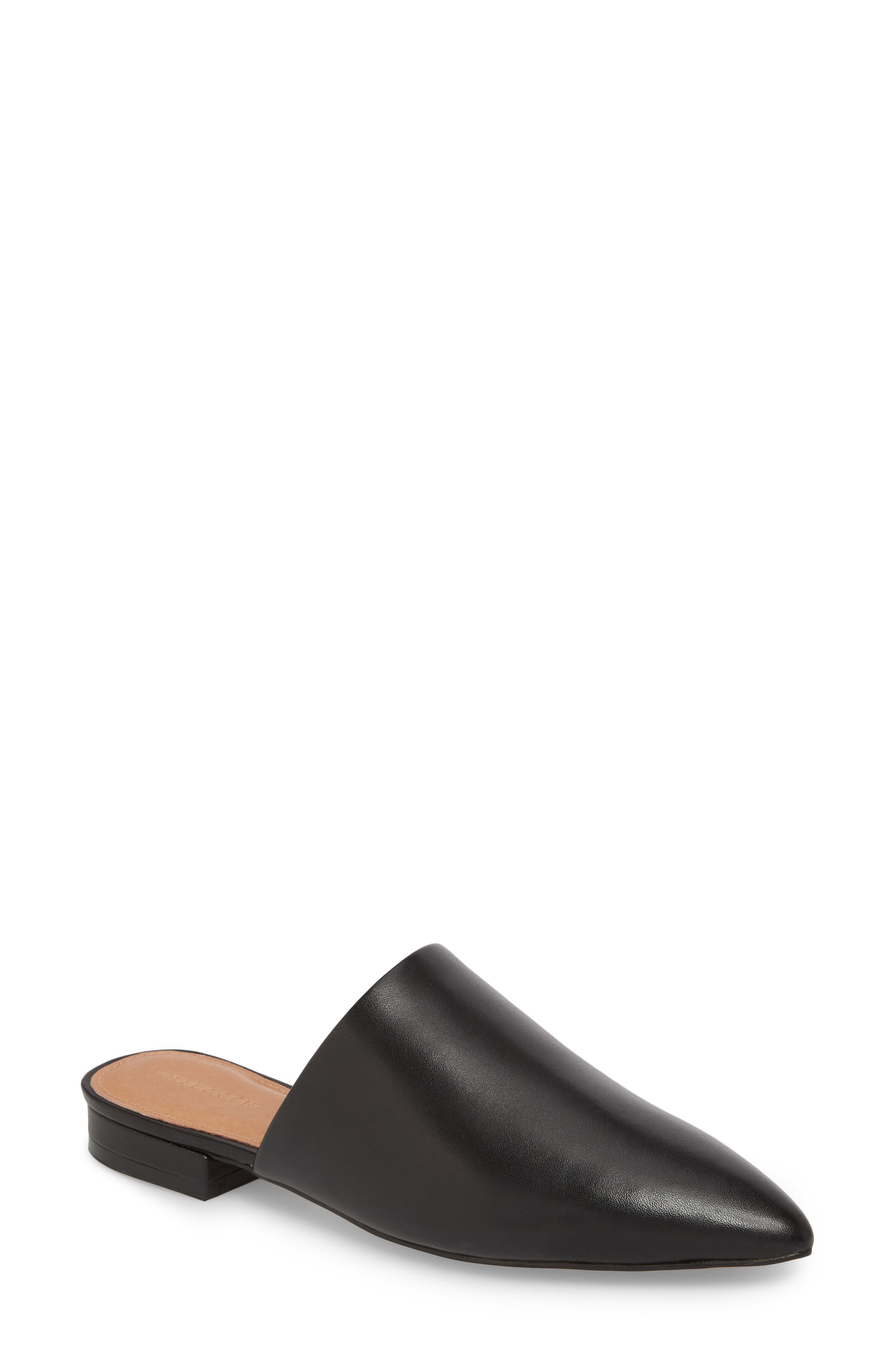 Elly Mule,                             Main thumbnail 1, color,                             BLACK LEATHER