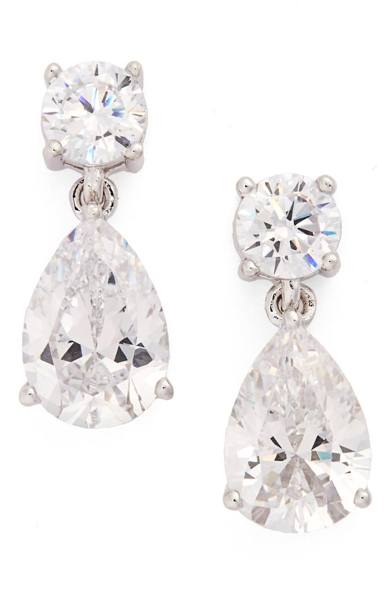 Cubic Zirconia Teardrop Earrings Main