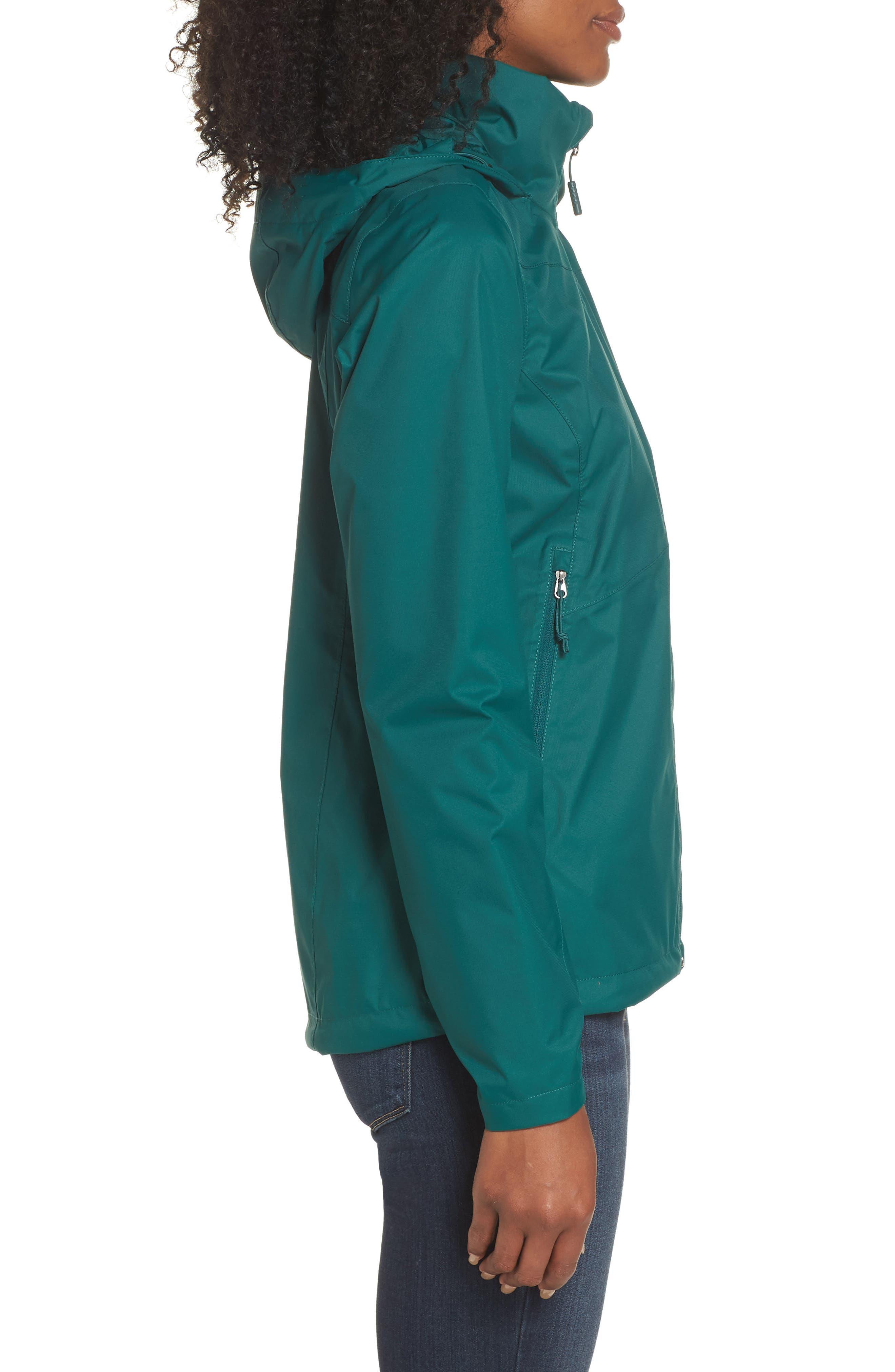Resolve Plus Waterproof Jacket,                             Alternate thumbnail 3, color,                             BOTANICAL GREEN