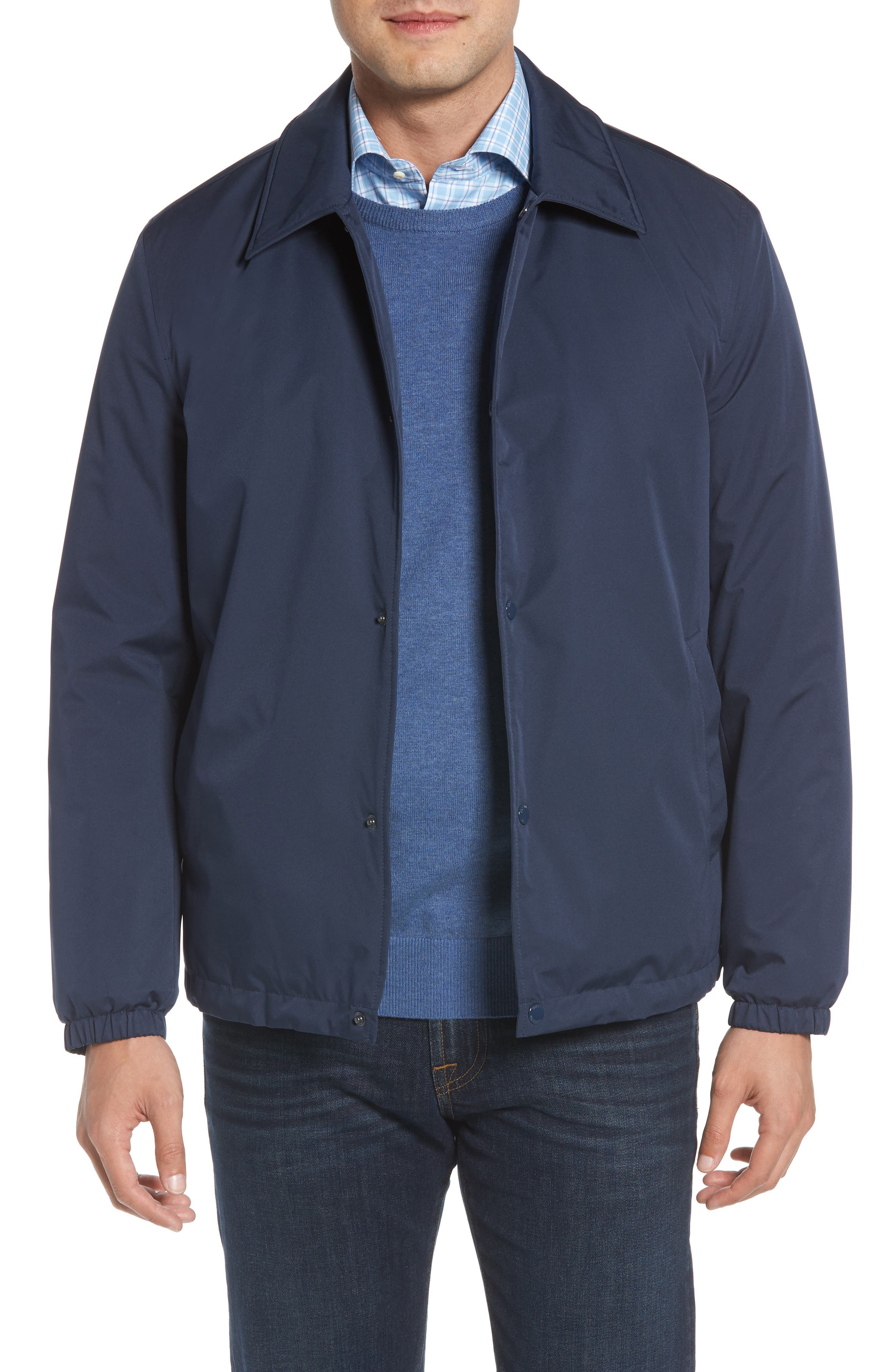 Faux Shearling Lined Jacket,                         Main,                         color, INDIA INK