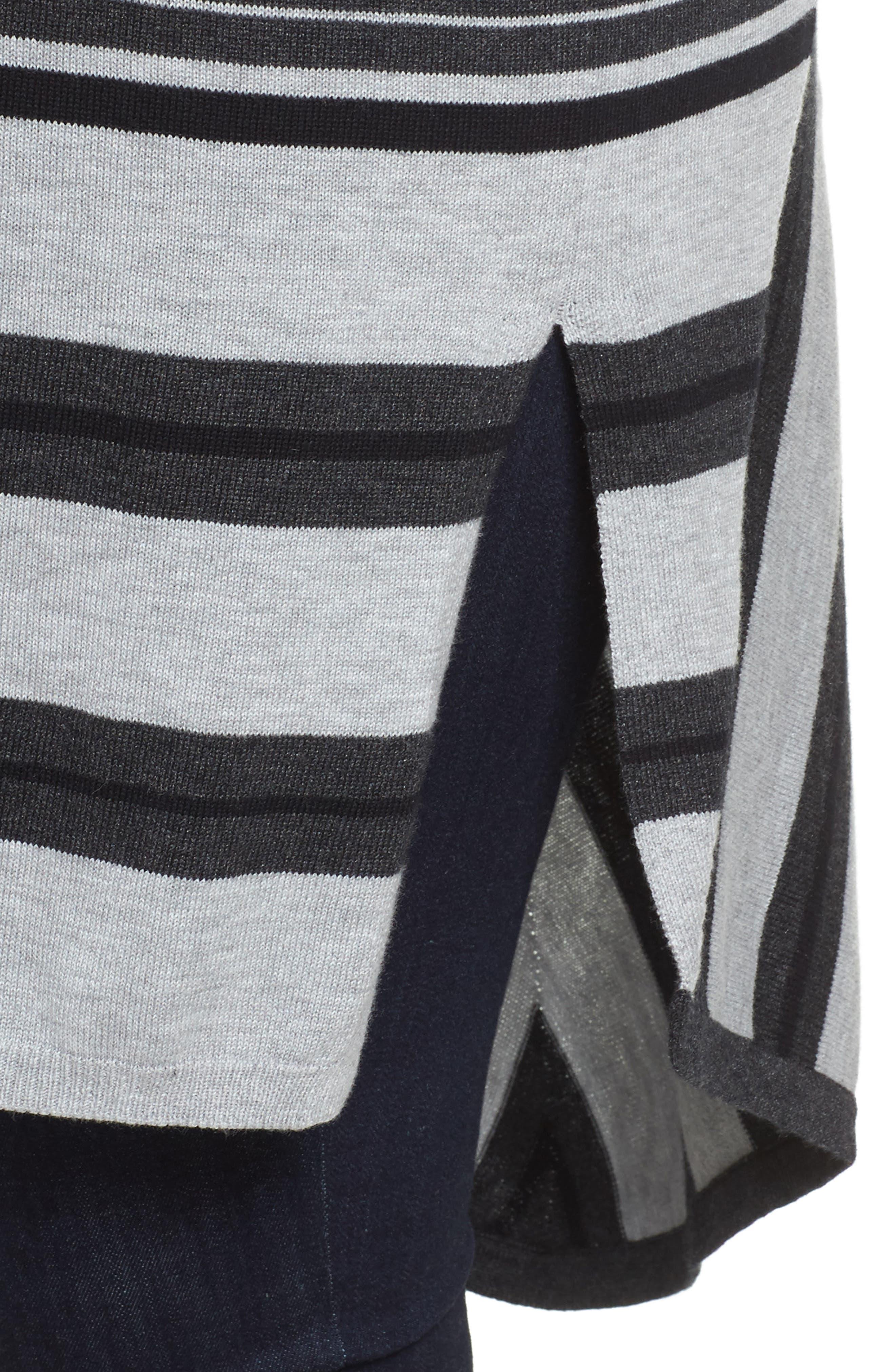 Long Stripe Cardigan,                             Alternate thumbnail 4, color,                             028