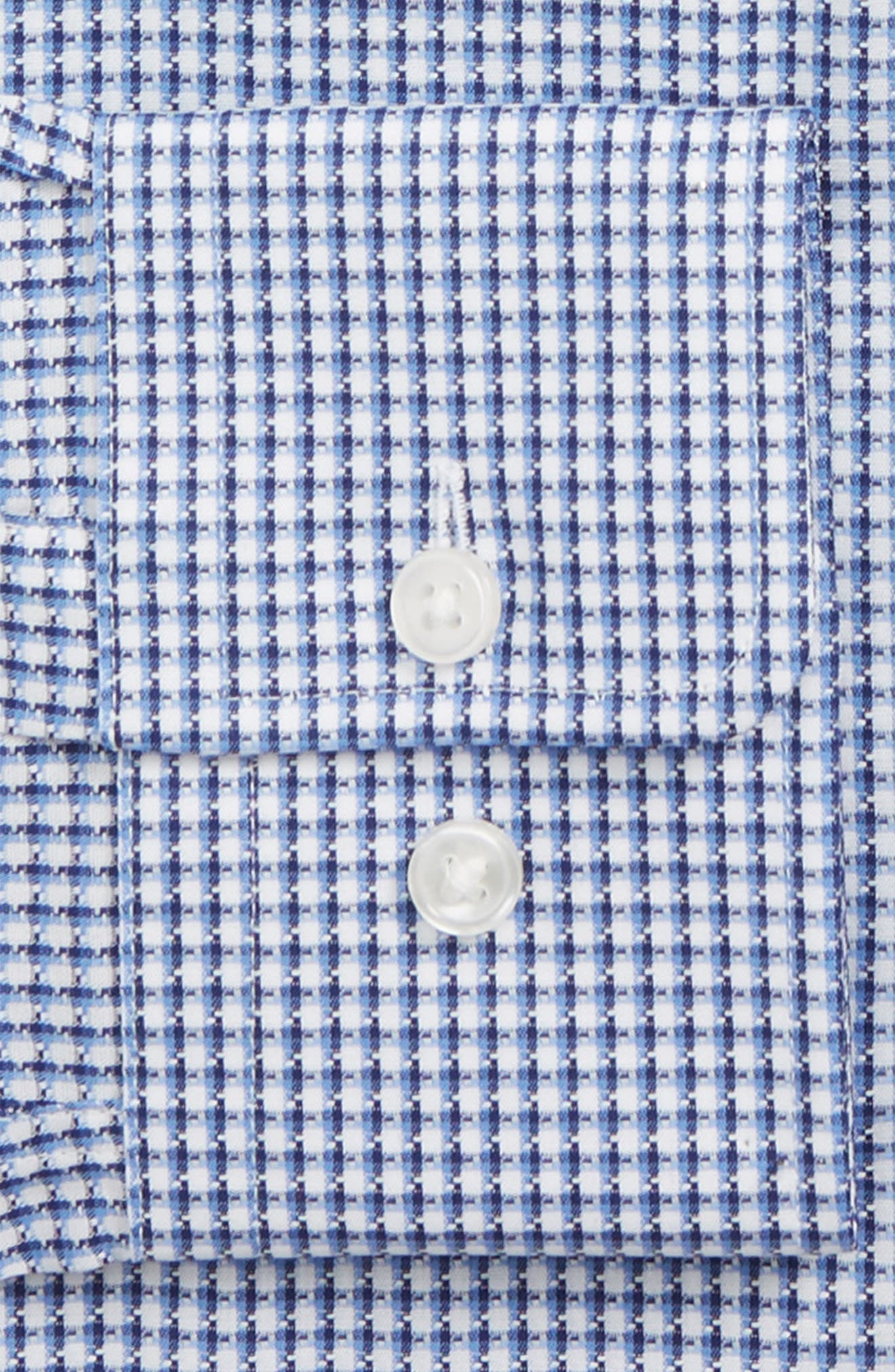 Mark Sharp Fit Check Dress Shirt,                             Alternate thumbnail 6, color,                             BLUE
