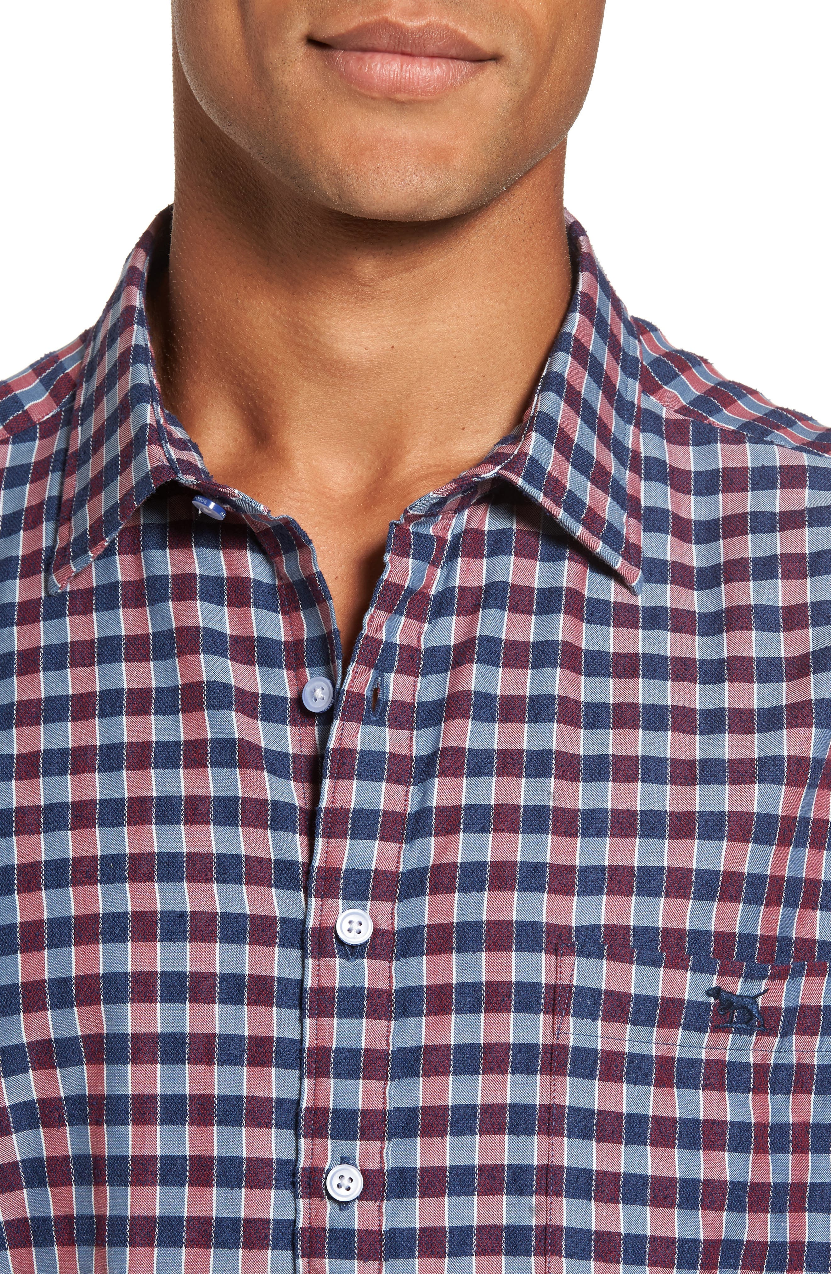 Mandeville Check Sport Shirt,                             Alternate thumbnail 4, color,                             413
