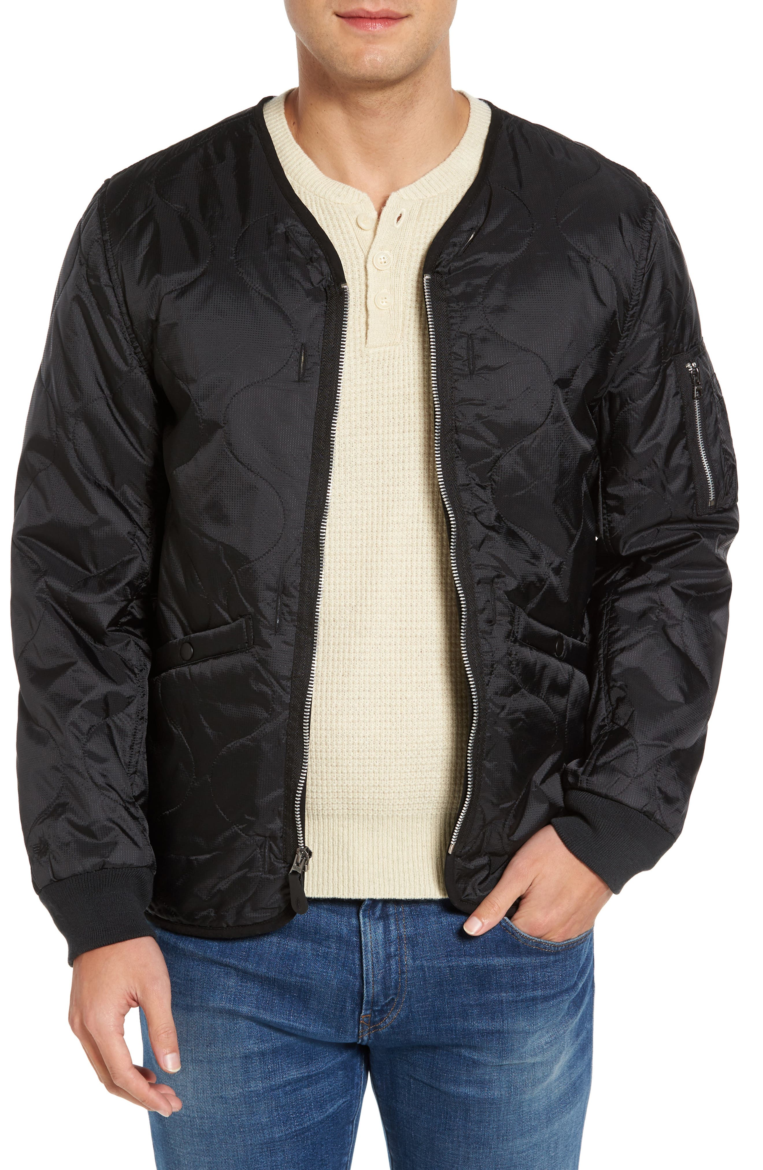Pioneer Quilted Bomber Jacket,                         Main,                         color, 001