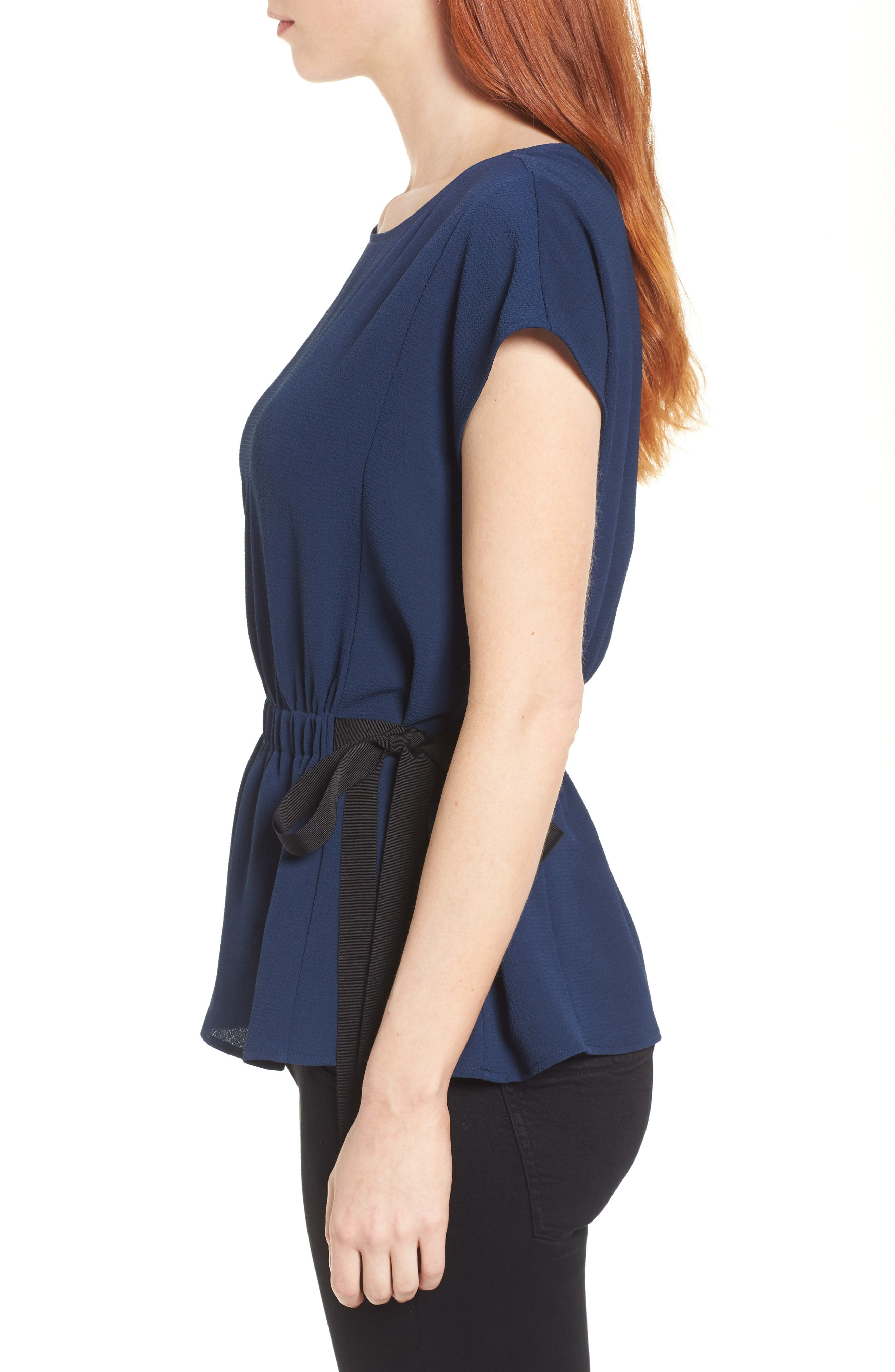 Gathered Waist Side Tie Top,                             Alternate thumbnail 15, color,