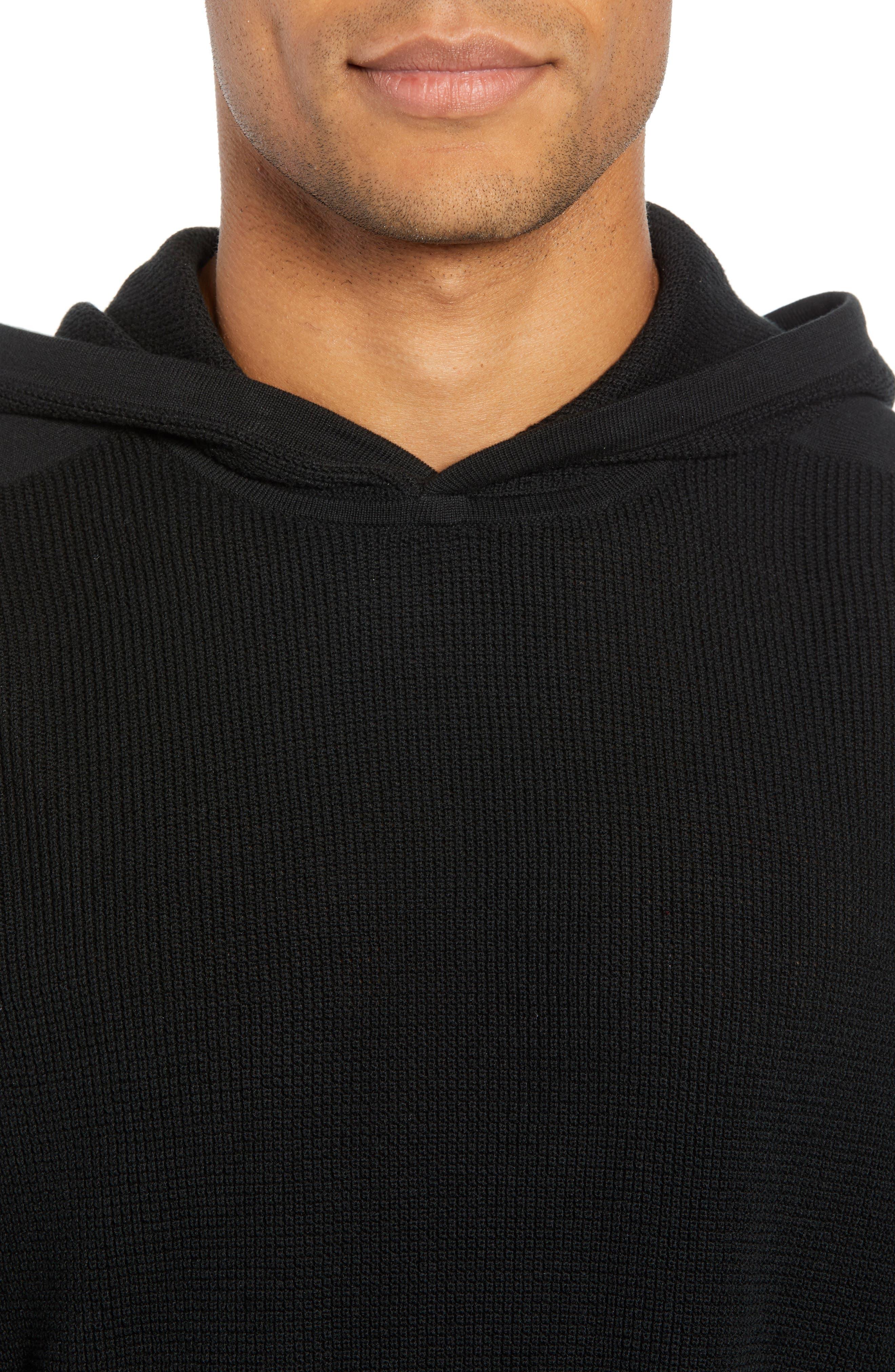 Dami Regular Fit Pullover Hoodie,                             Alternate thumbnail 4, color,                             001