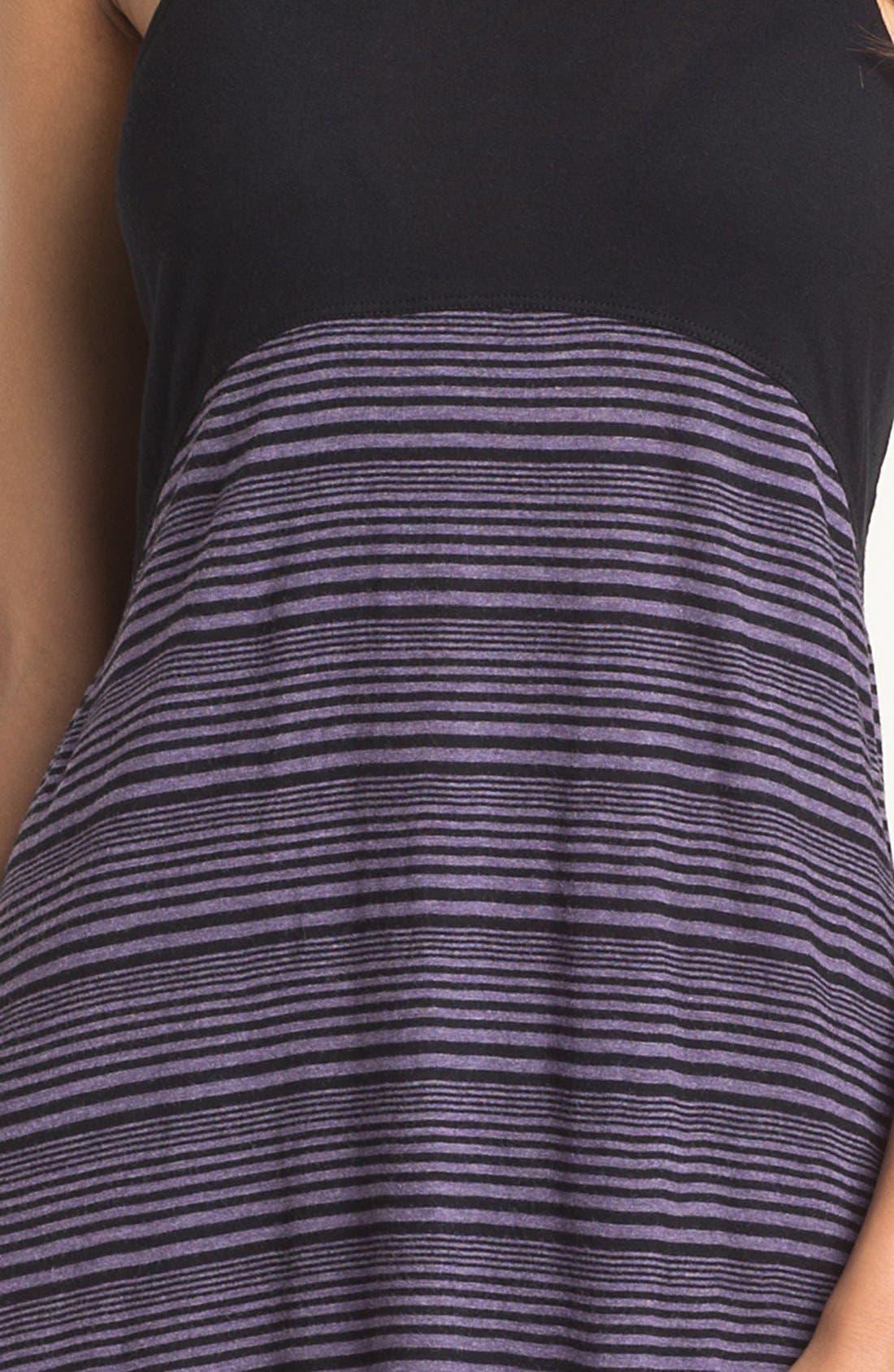 Colorblock Cover-Up Dress,                             Alternate thumbnail 3, color,                             001