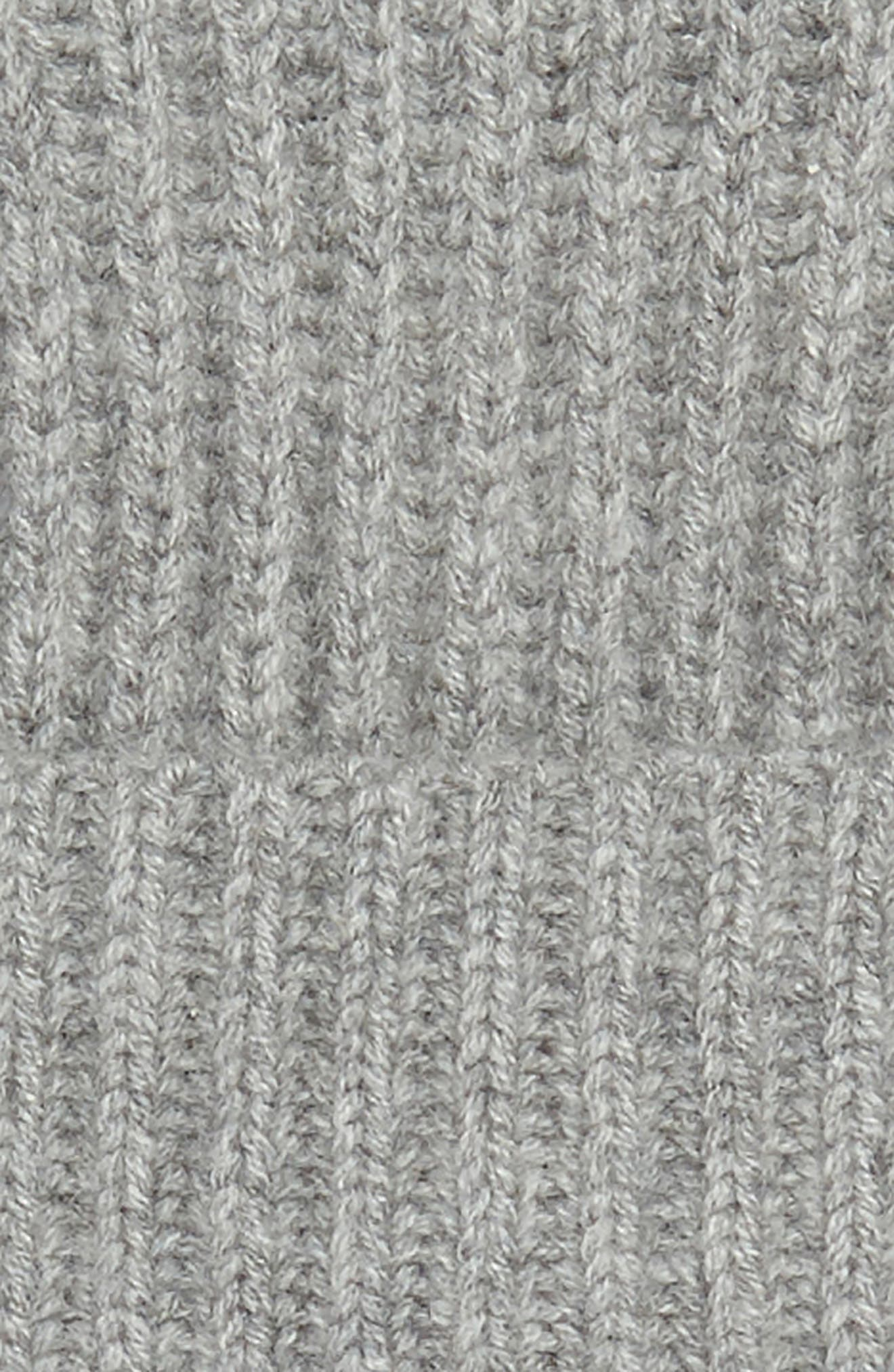 Cashmere Knit Cap,                             Alternate thumbnail 2, color,                             LIGHT GREY HEATHER