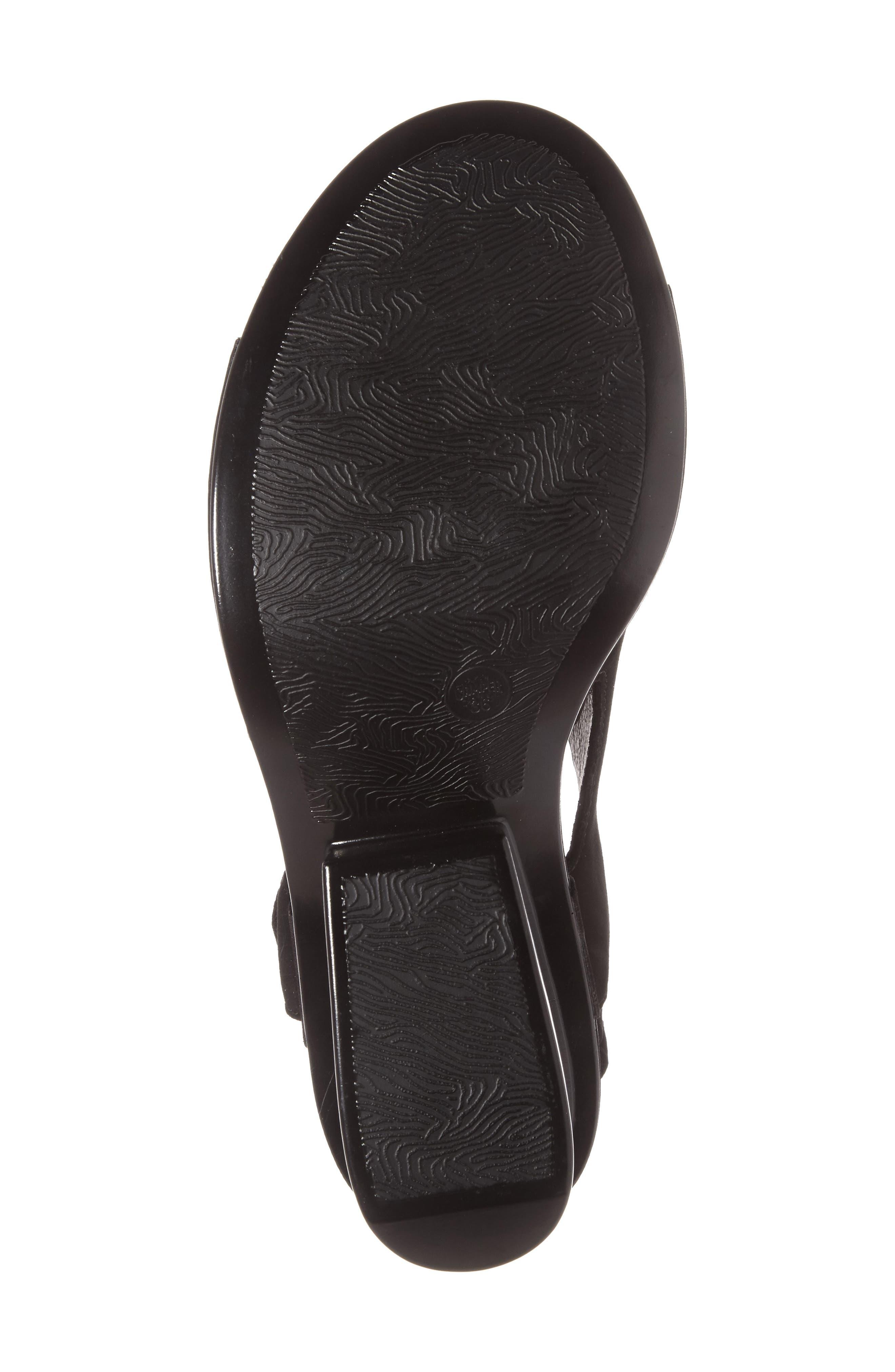 Ivy Slingback Sandal,                             Alternate thumbnail 4, color,                             BLACK LEATHER