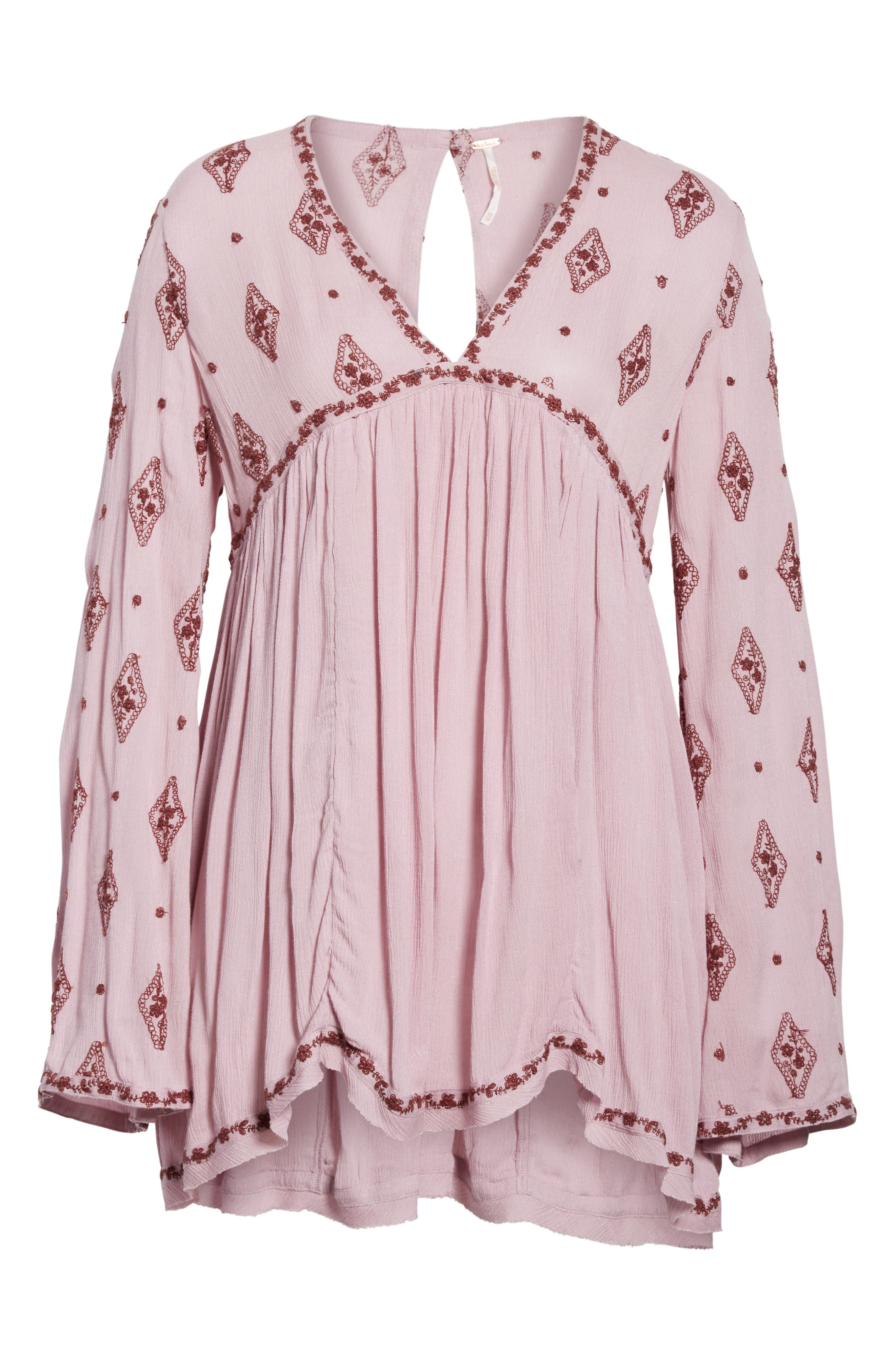 Embroidered Bell Sleeve Top,                             Alternate thumbnail 6, color,                             506