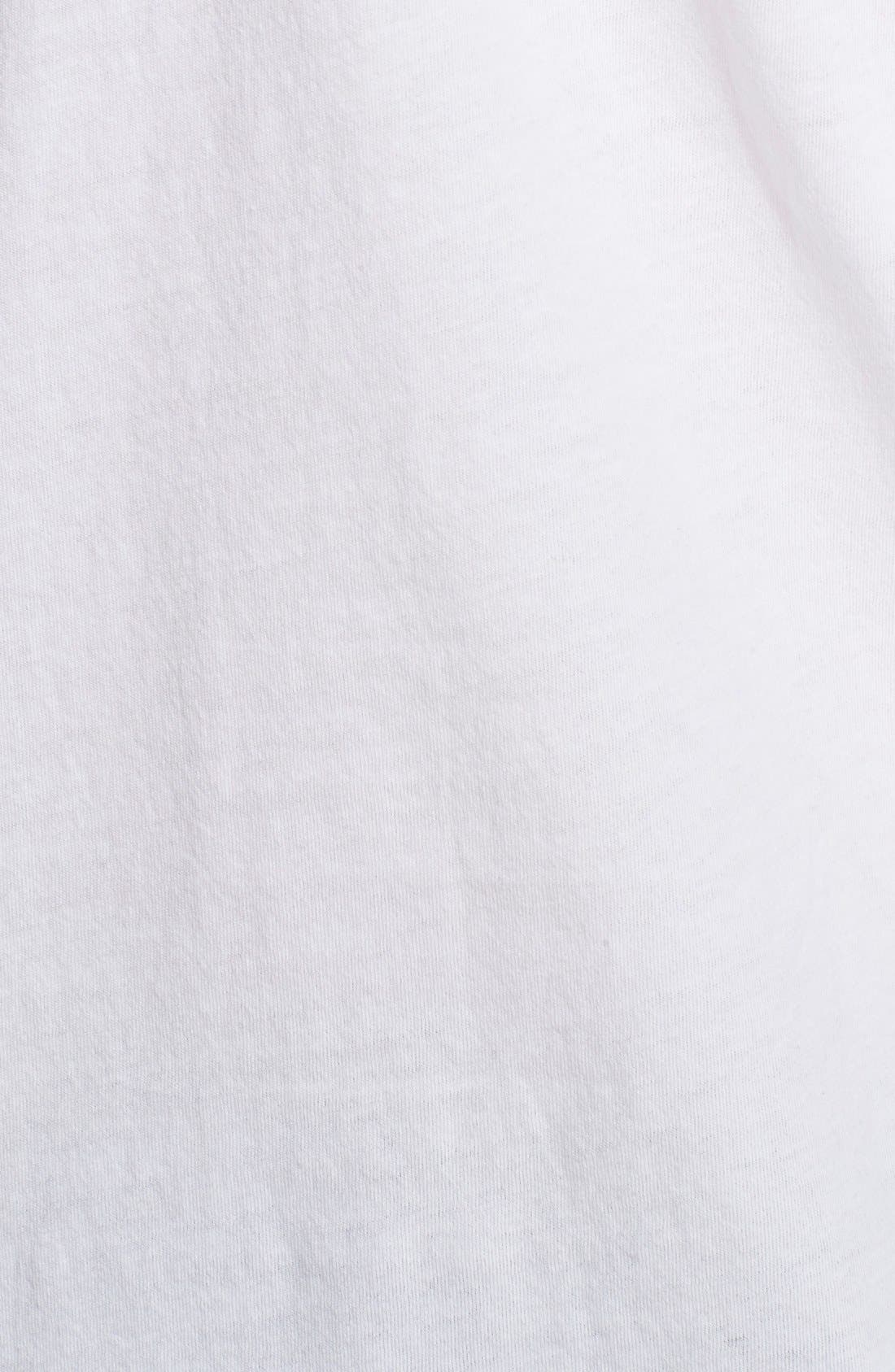 Cotton Jersey T-Shirt,                             Alternate thumbnail 8, color,                             WHITE