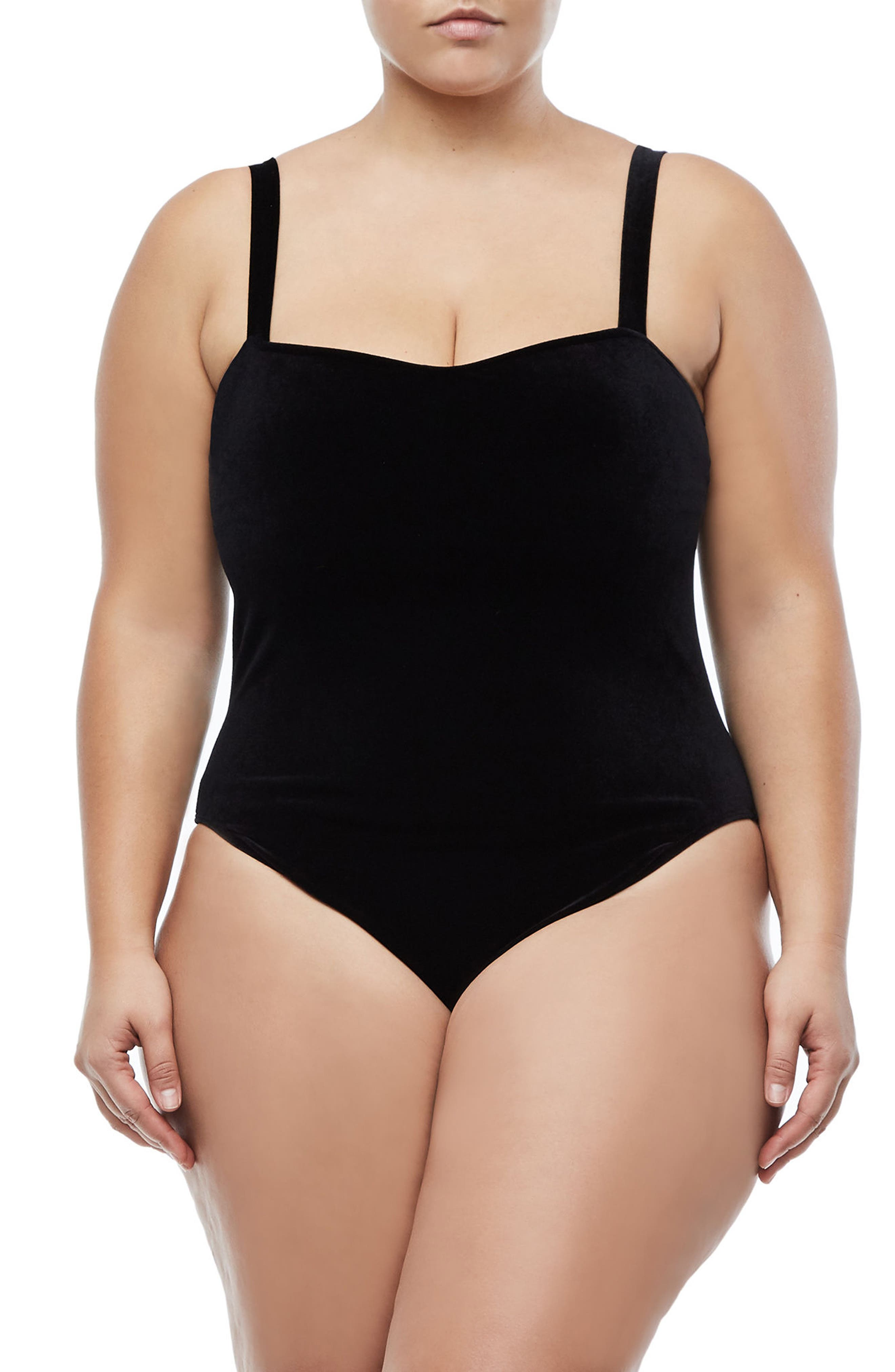 Sweetheart Bodysuit,                             Alternate thumbnail 2, color,                             BLACK001