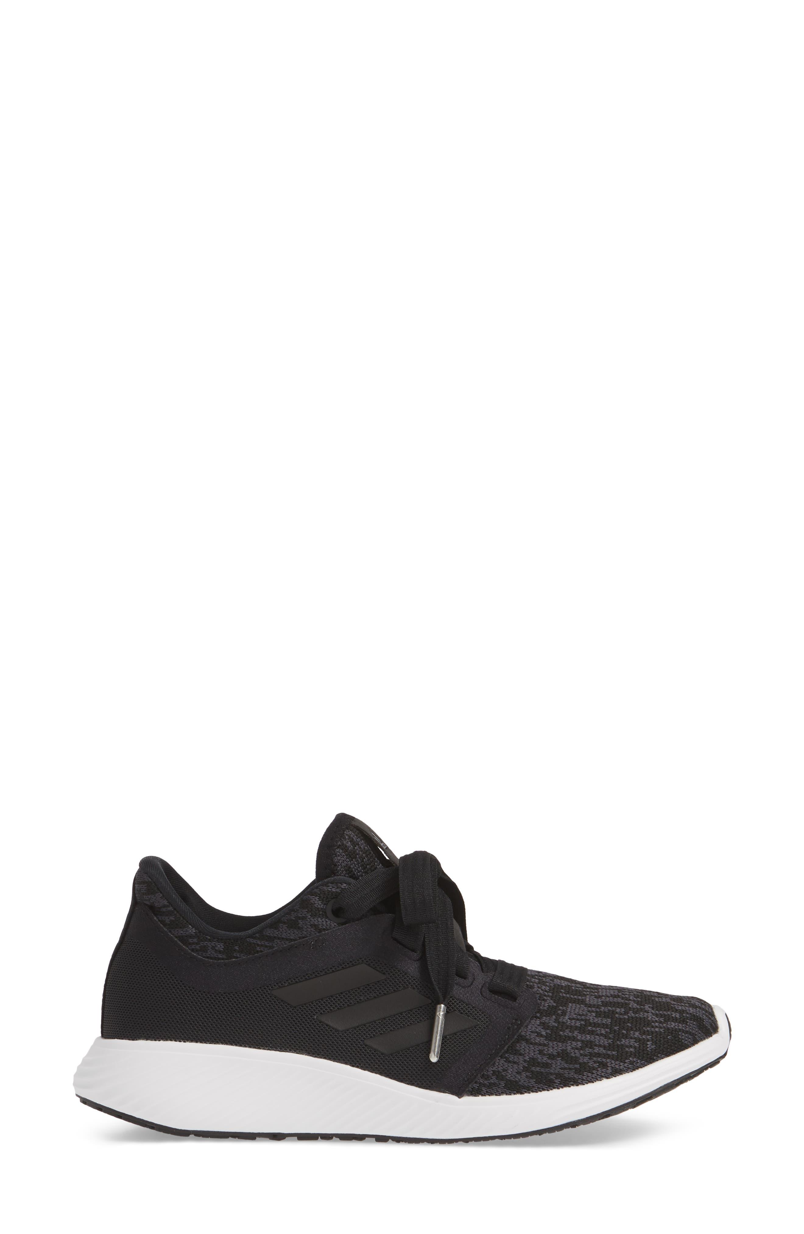 ADIDAS,                             Edge Lux 3 Running Shoe,                             Alternate thumbnail 3, color,                             CORE BLACK/ WHITE