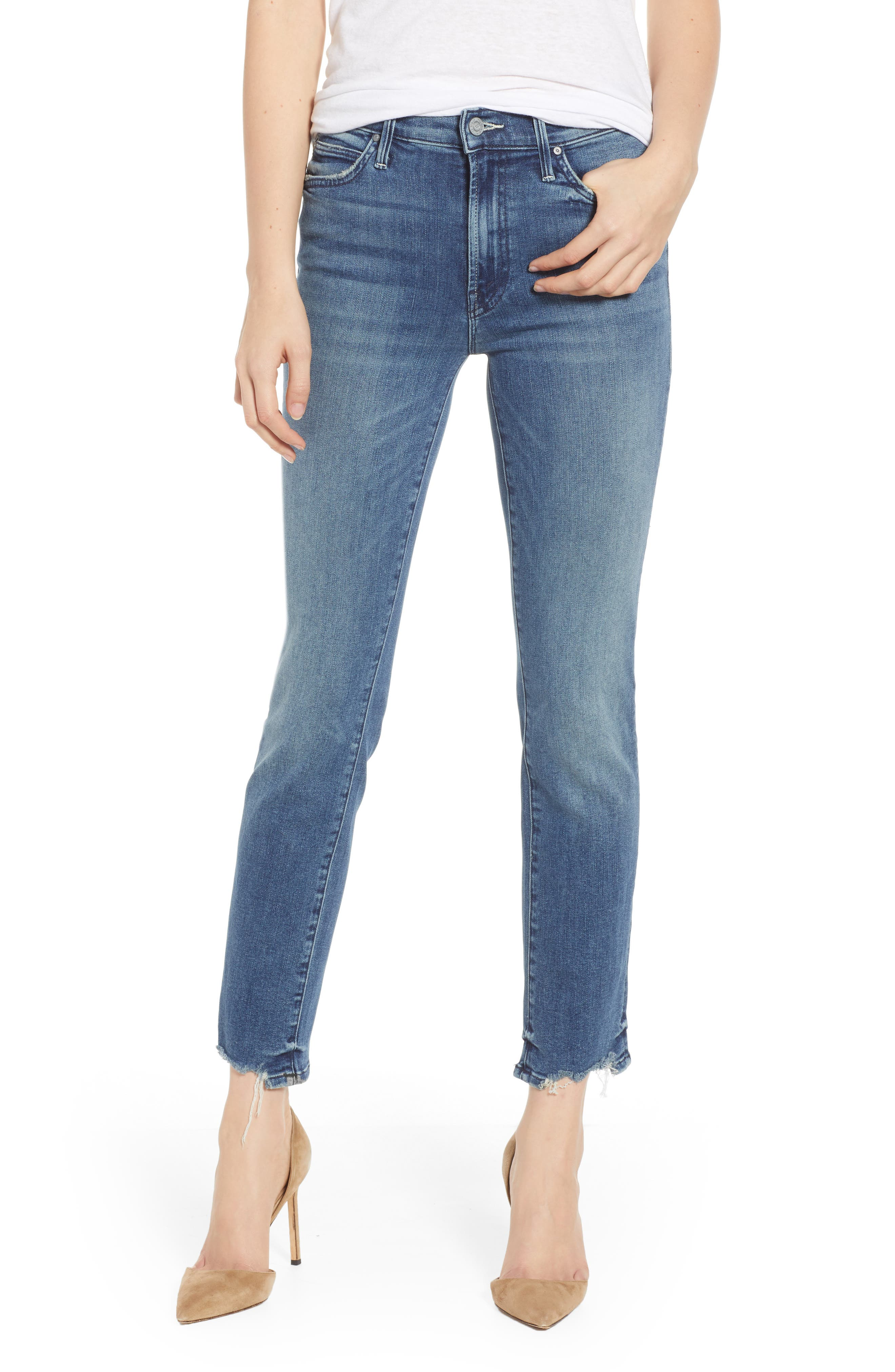 The Rascal Ankle Chewed-Hem Straight-Leg Jeans In The Ones We Used To Know in Just Like Ones Used Know