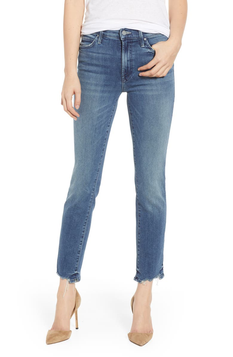 Mother THE RASCAL ANKLE CHEW STRAIGHT LEG JEANS