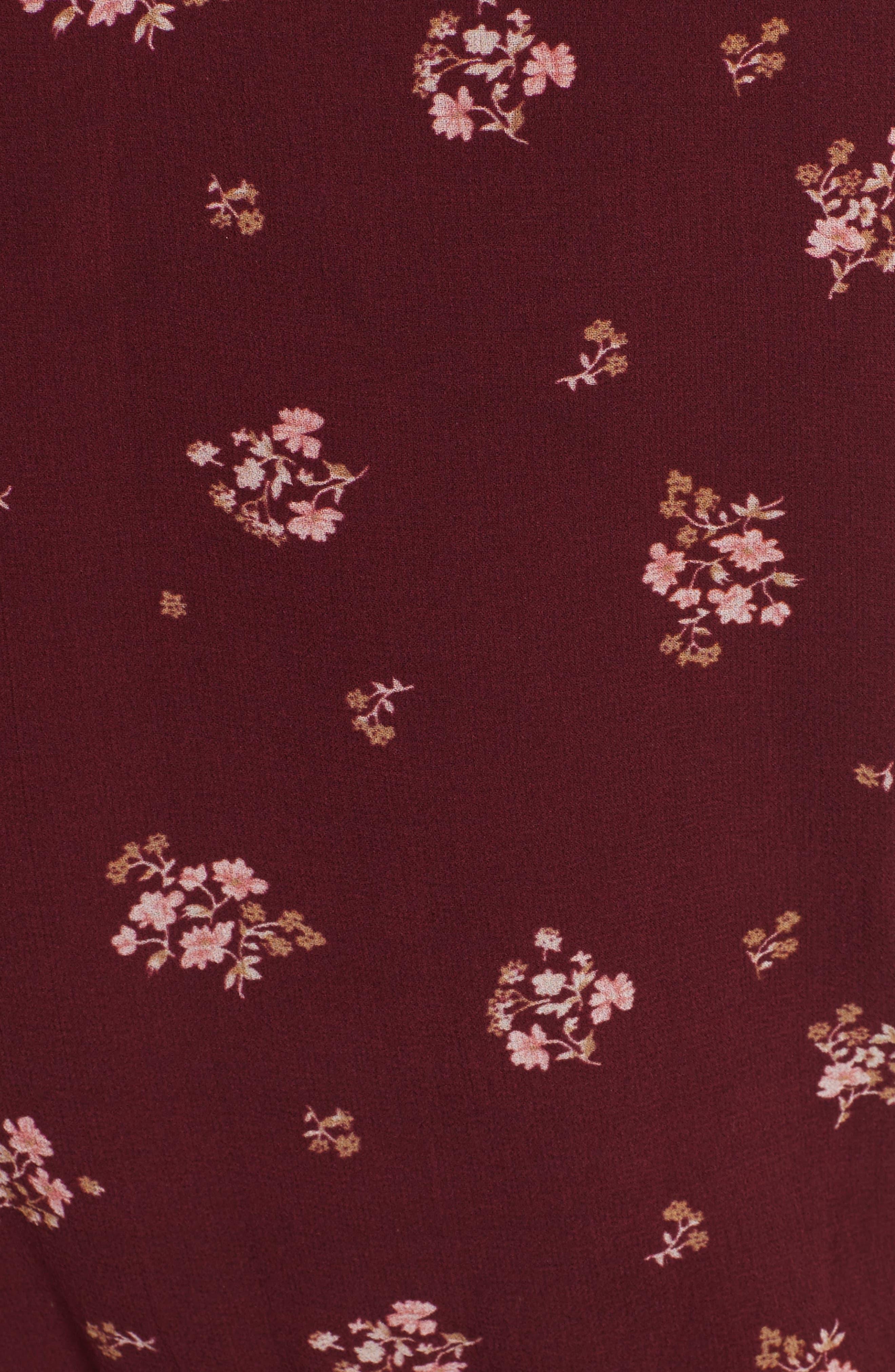 Arleth Cold Shoulder Silk Dress,                             Alternate thumbnail 5, color,                             641