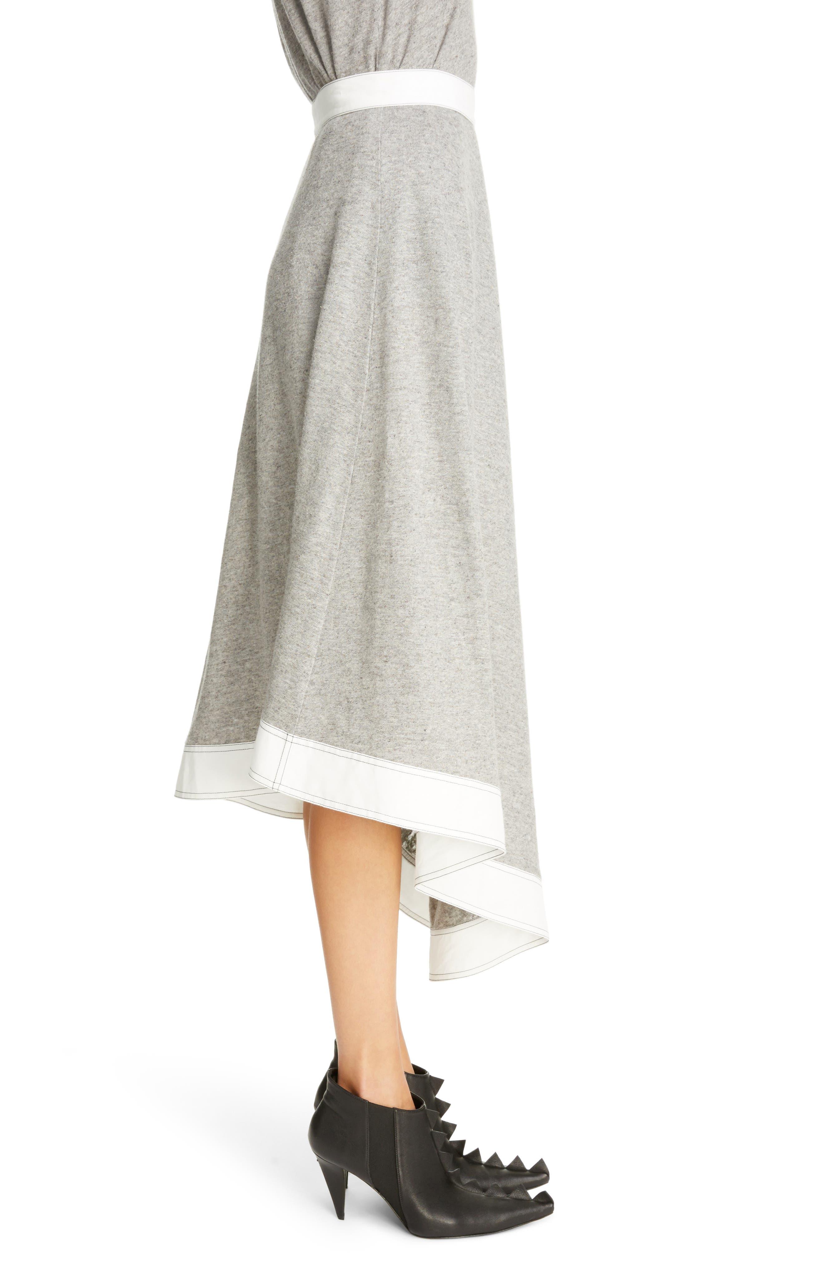 Asymmetrical Linen Blend Skirt,                             Alternate thumbnail 3, color,