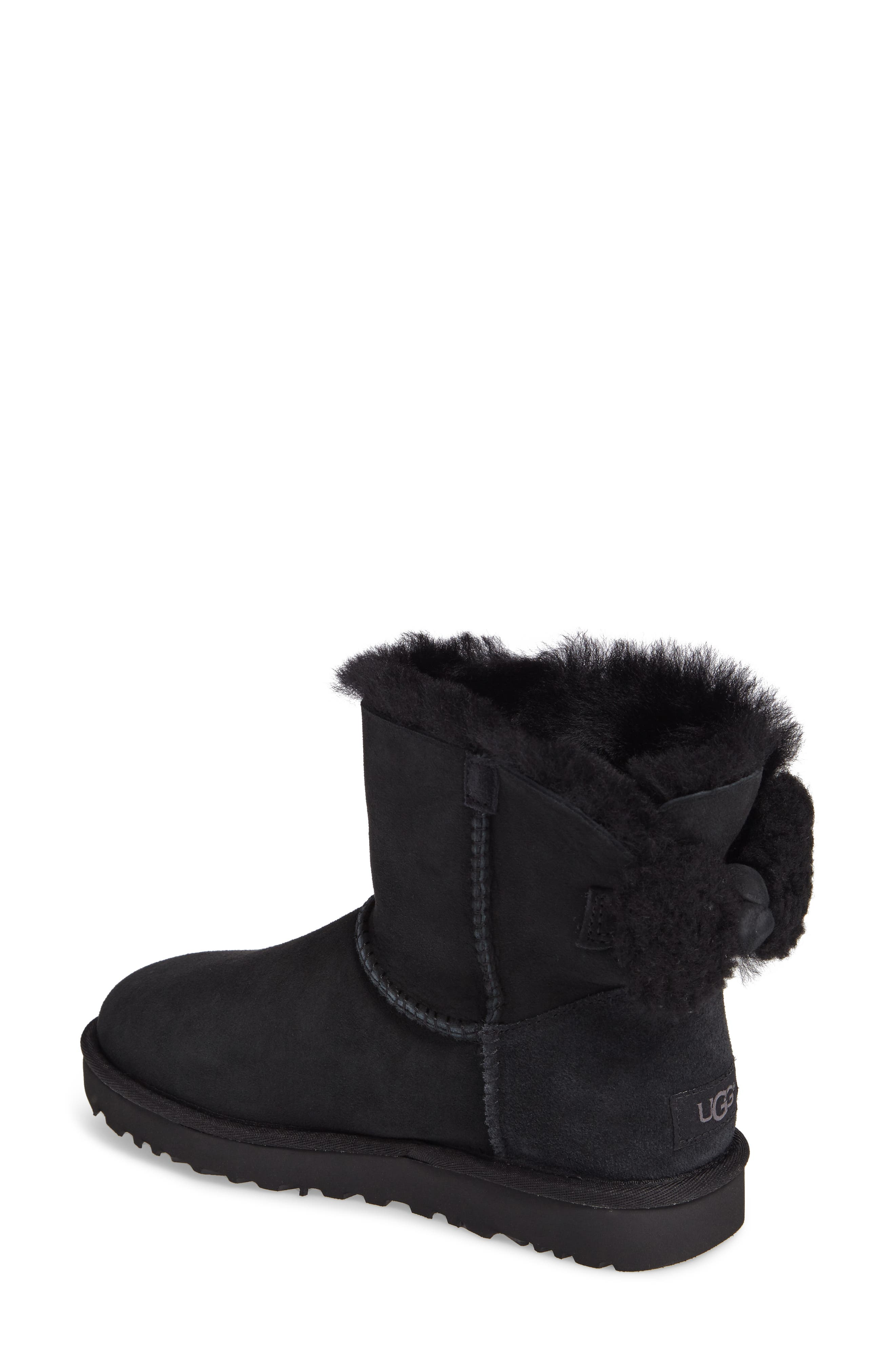 Arielle Genuine Shearling Bootie,                             Alternate thumbnail 4, color,