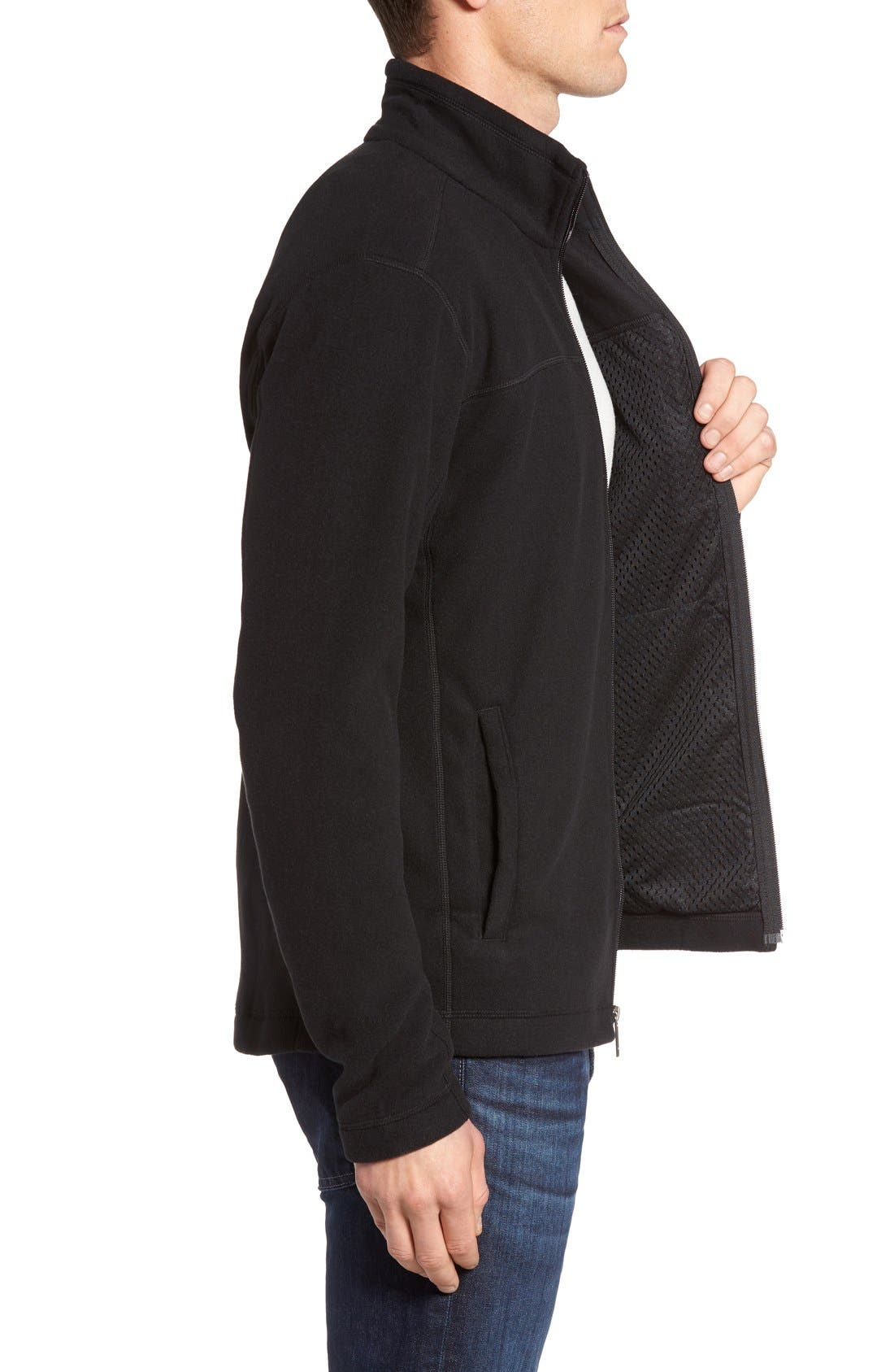 Micro D<sup>®</sup> Fleece Jacket,                             Alternate thumbnail 9, color,                             001