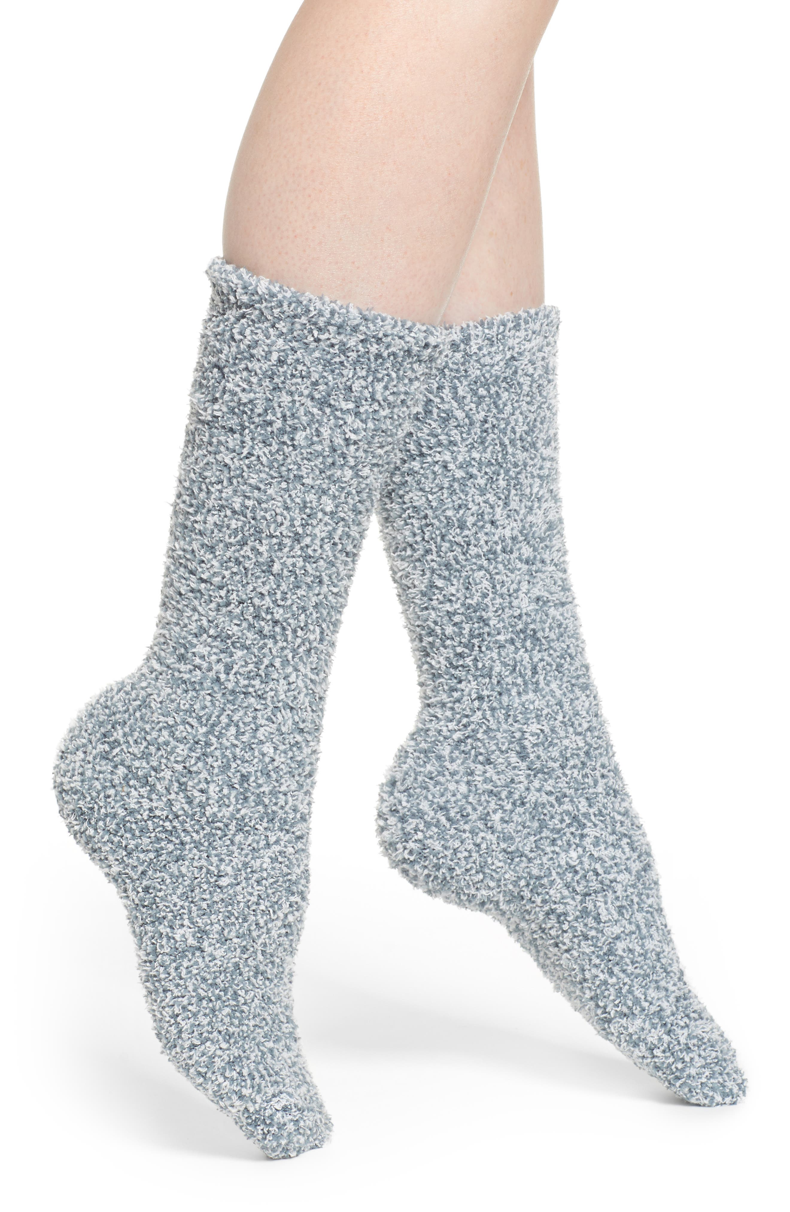 CozyChic<sup>®</sup> Socks,                             Main thumbnail 1, color,                             HEATHER DUSK/ WHITE