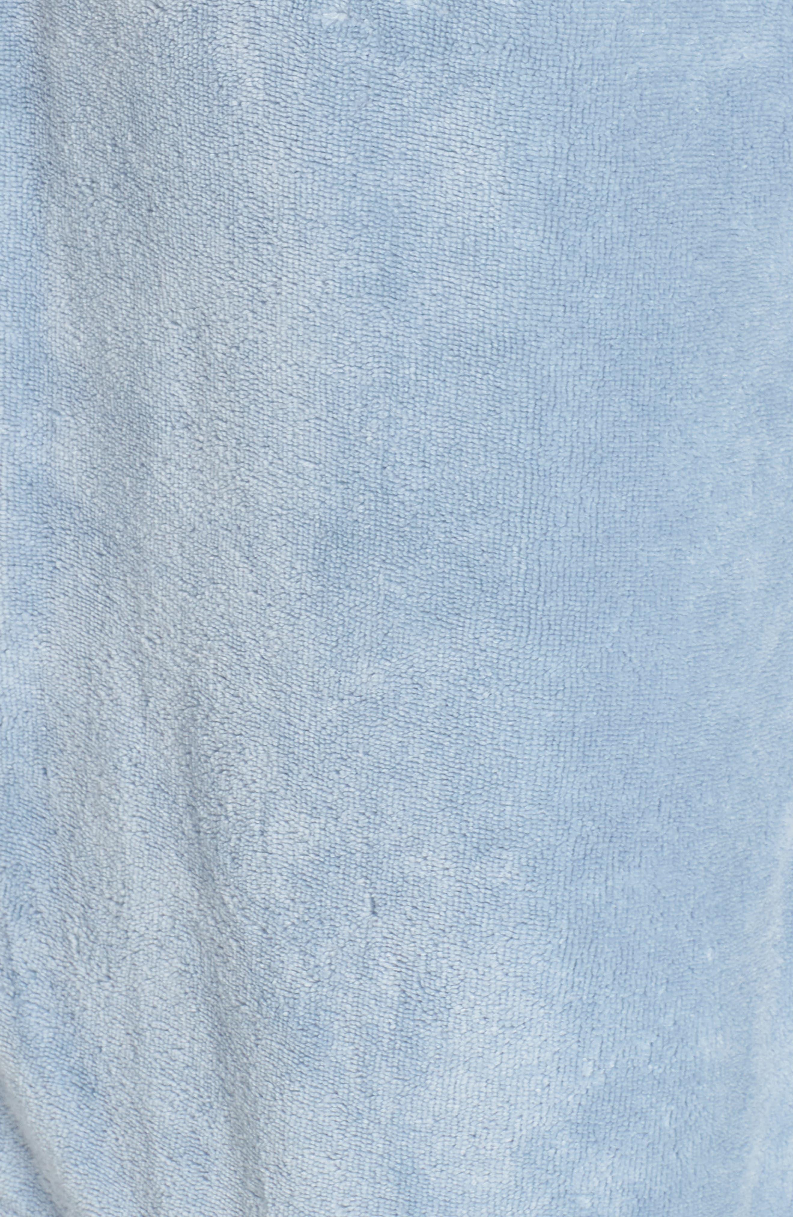 Terry Velour Robe,                             Alternate thumbnail 5, color,                             BLUE FOG