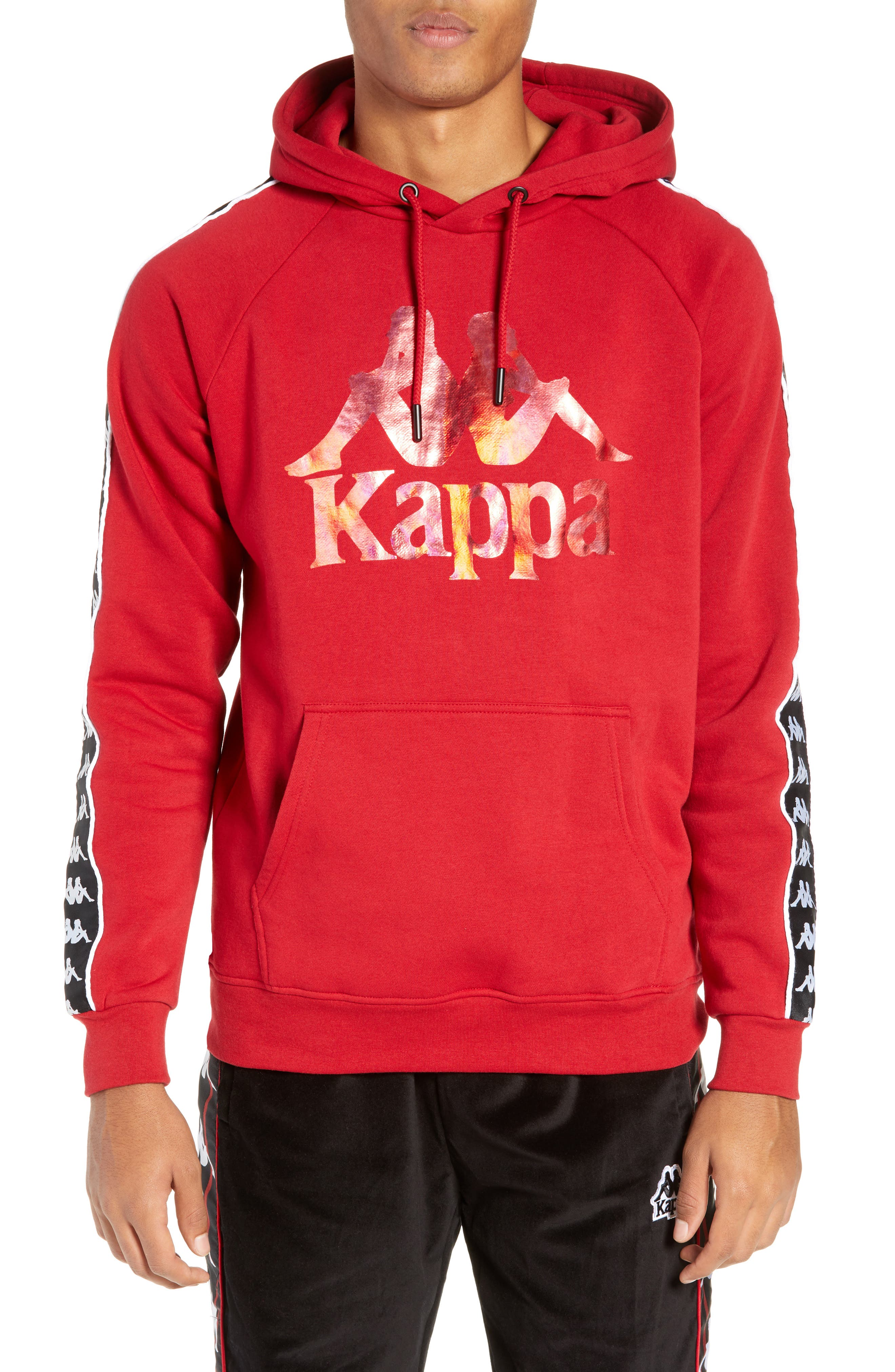Banda Graphic Hoodie,                             Main thumbnail 1, color,                             RED/ BLACK/ WHITE