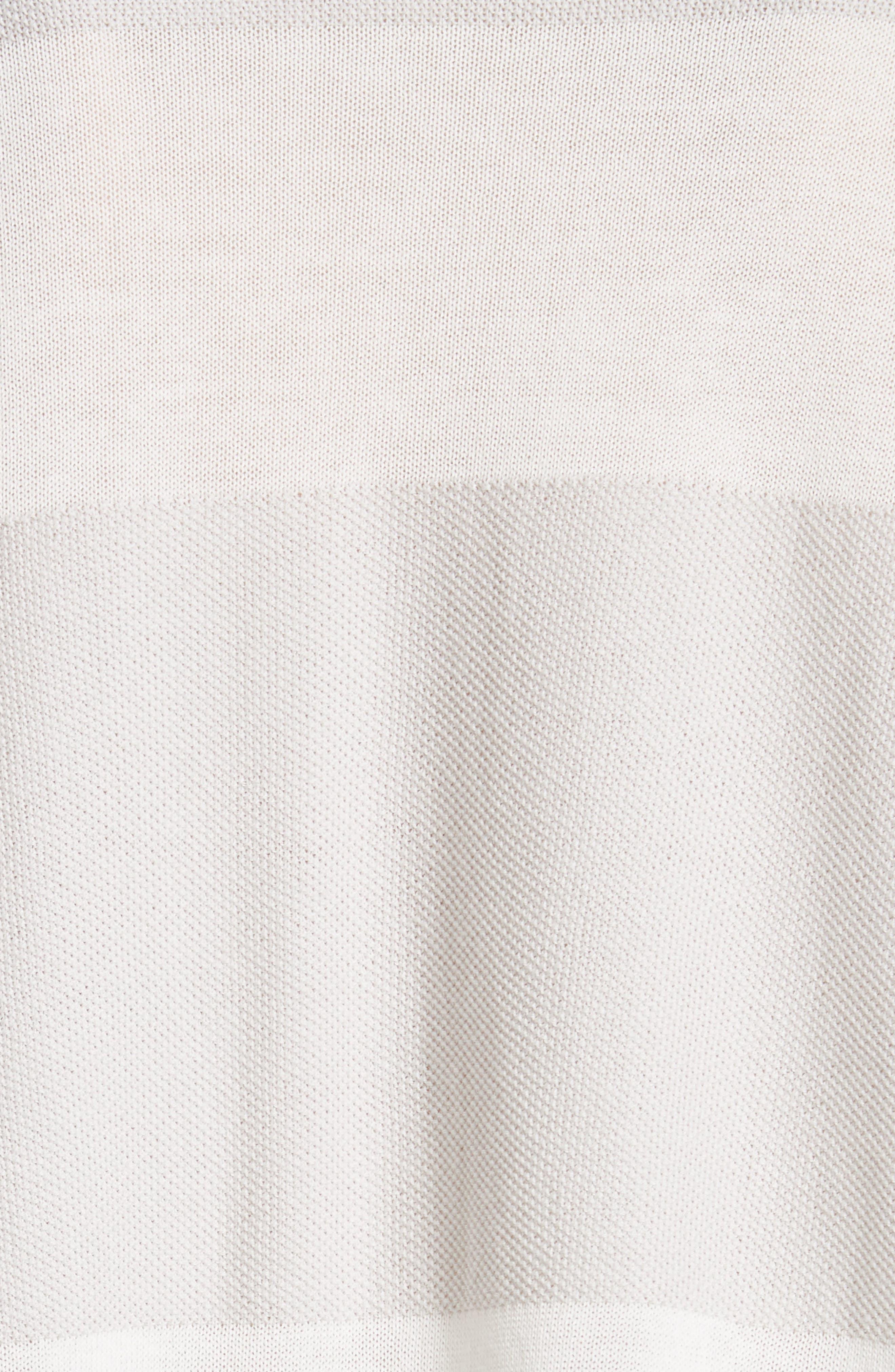 Popcorn Stripe Metallic Knit Sweater,                             Alternate thumbnail 5, color,                             020