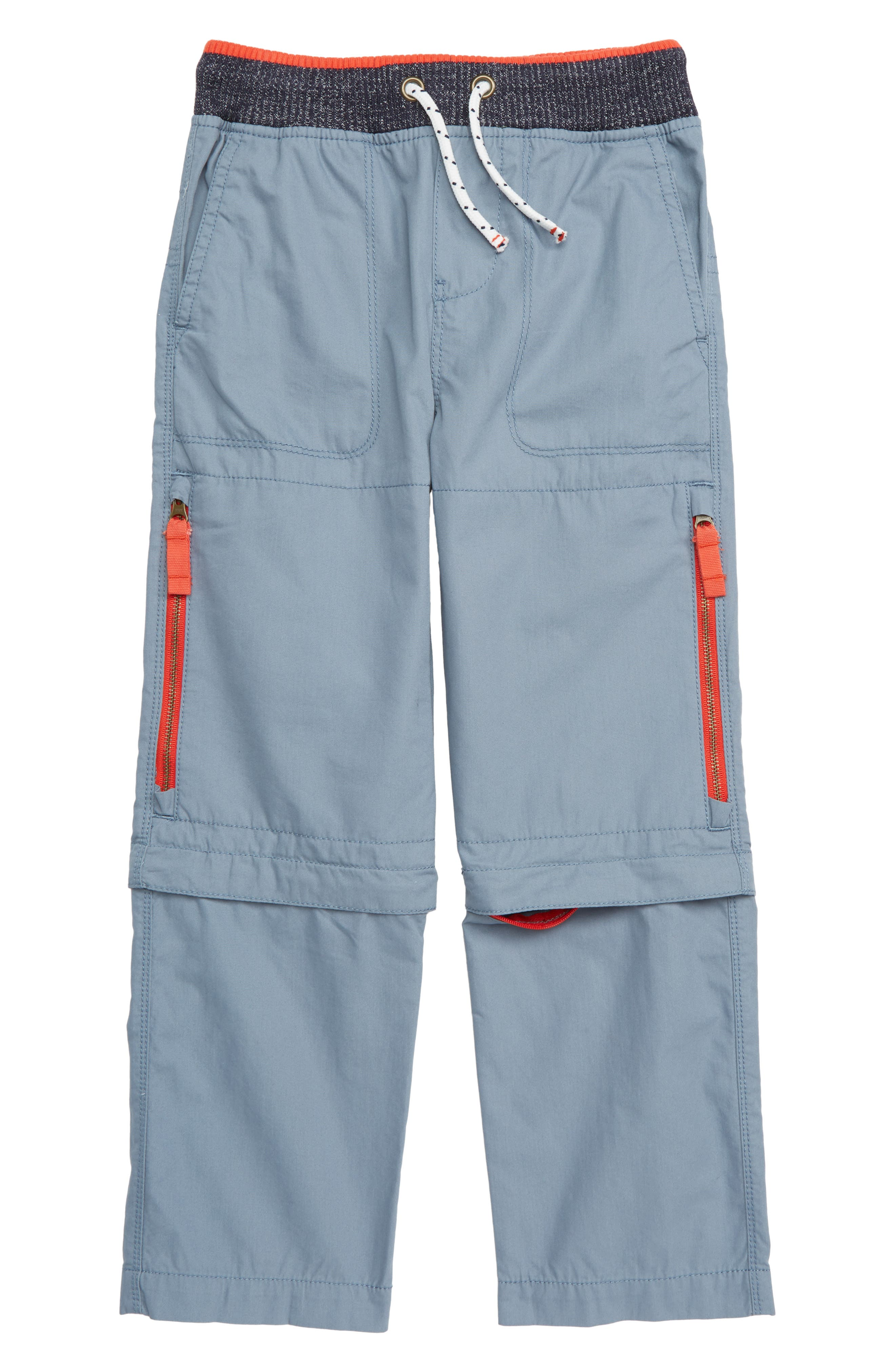 Toddler Boys Mini Boden Techno Convertible Zip Off Pants Size 3Y  Blue